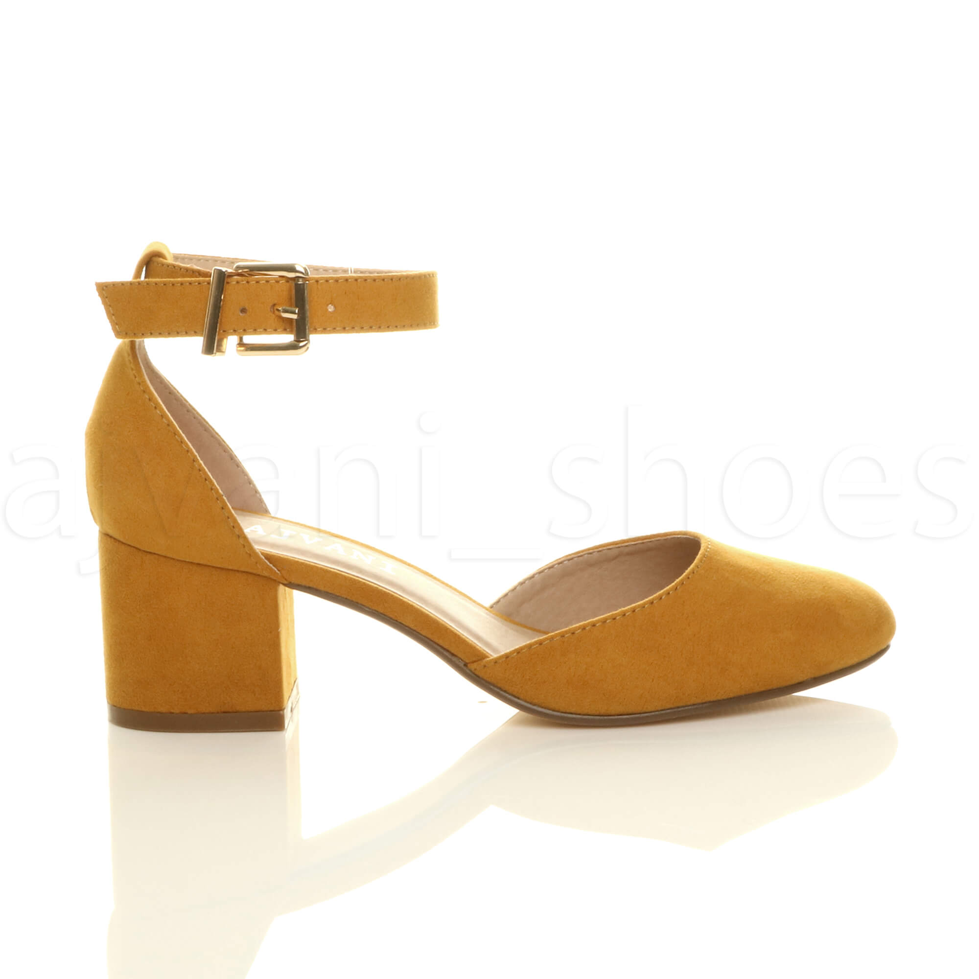 WOMENS-LADIES-LOW-MID-BLOCK-HEEL-ANKLE-STRAP-MARY-JANE-COURT-SHOES-SANDALS-SIZE thumbnail 83