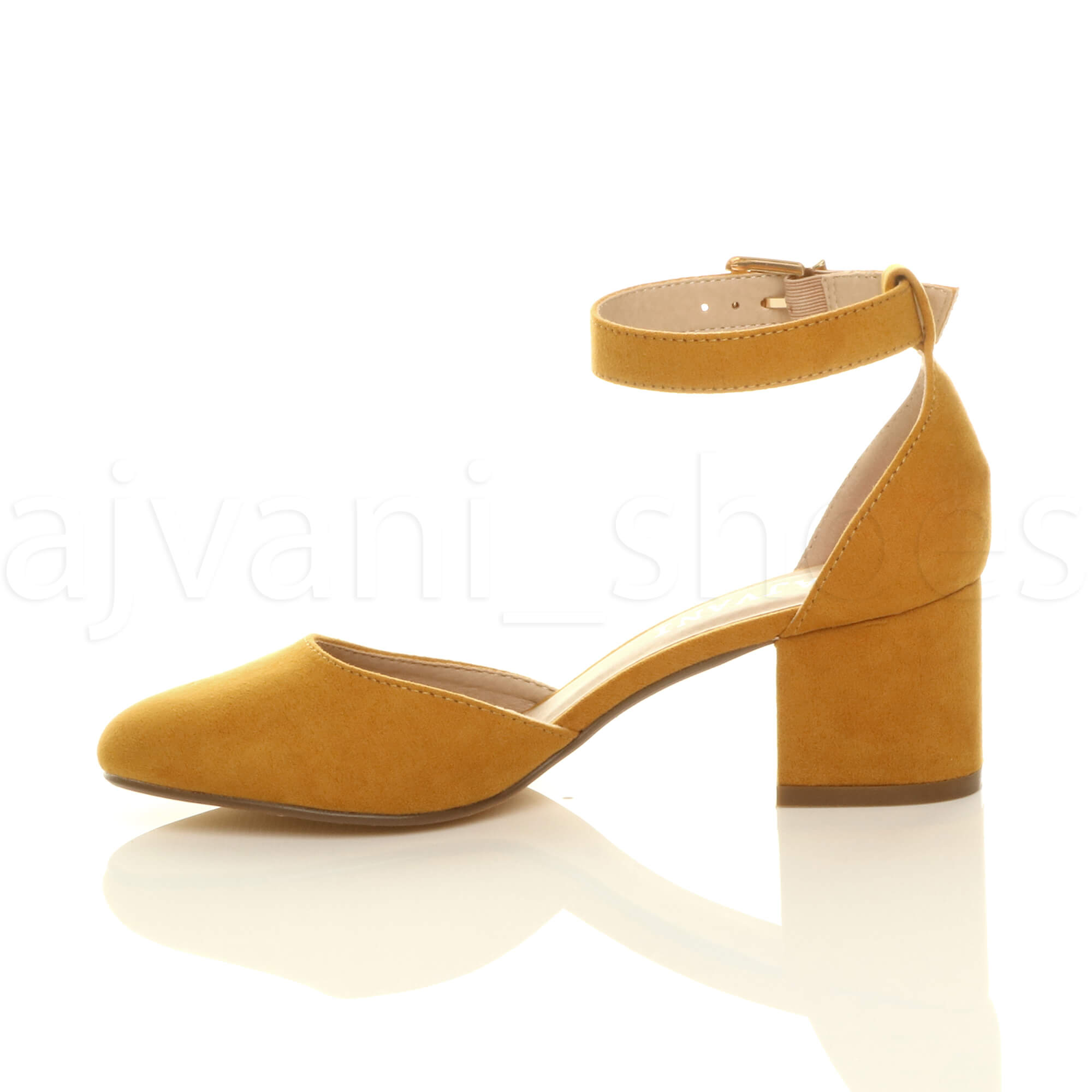 WOMENS-LADIES-LOW-MID-BLOCK-HEEL-ANKLE-STRAP-MARY-JANE-COURT-SHOES-SANDALS-SIZE thumbnail 84