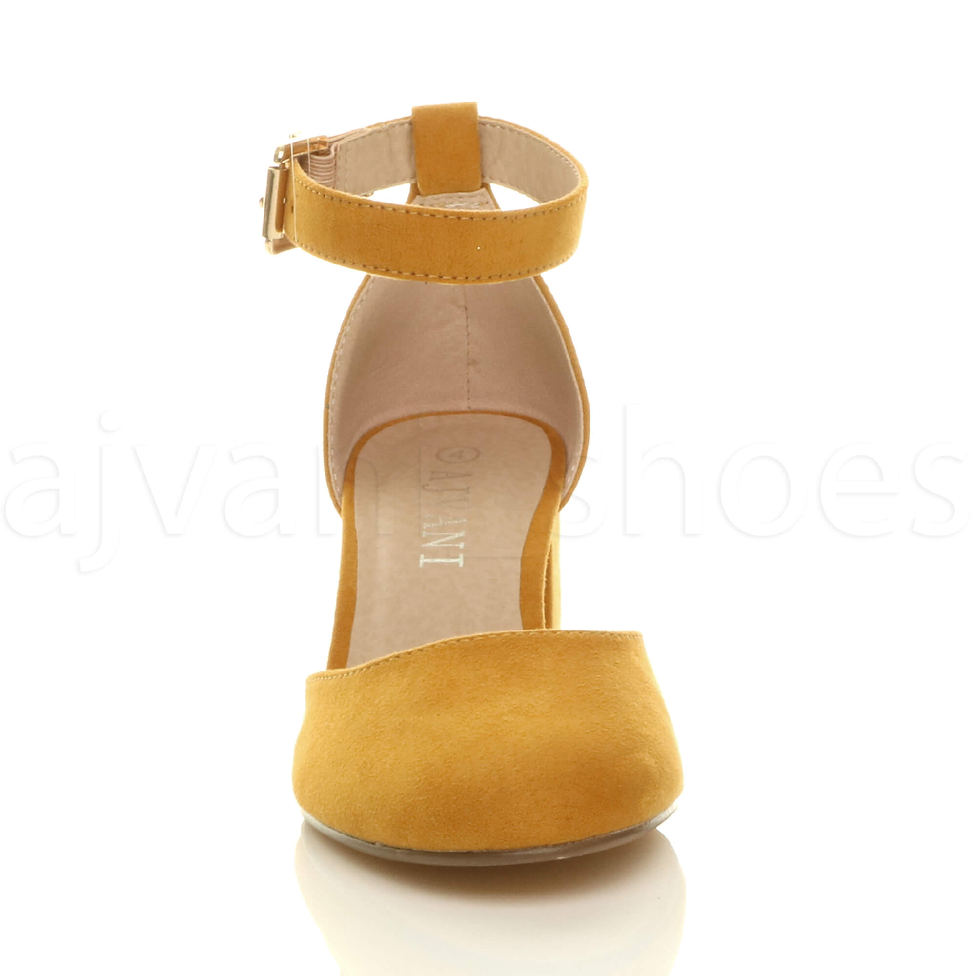 WOMENS-LADIES-LOW-MID-BLOCK-HEEL-ANKLE-STRAP-MARY-JANE-COURT-SHOES-SANDALS-SIZE thumbnail 87