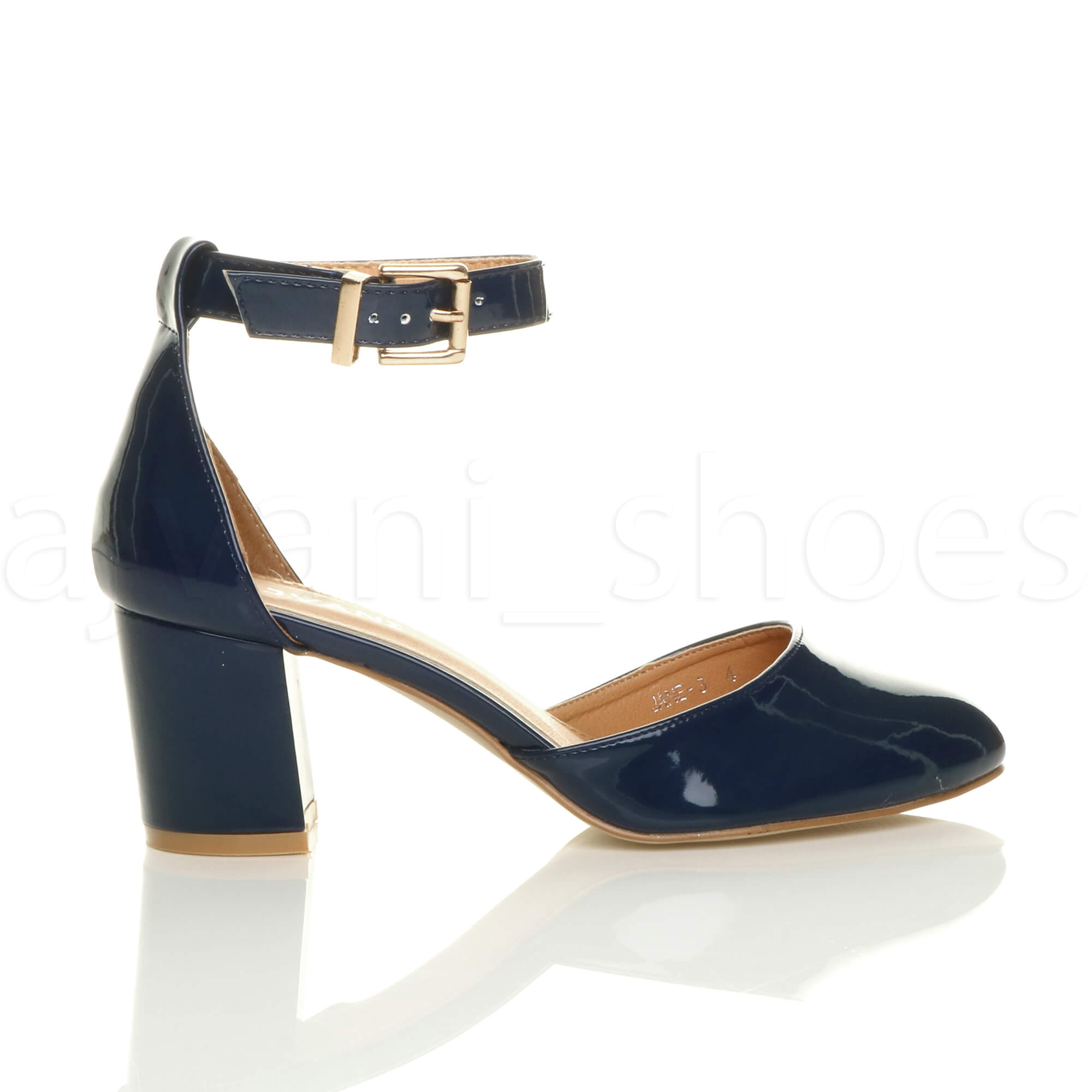 WOMENS-LADIES-LOW-MID-BLOCK-HEEL-ANKLE-STRAP-MARY-JANE-COURT-SHOES-SANDALS-SIZE thumbnail 99