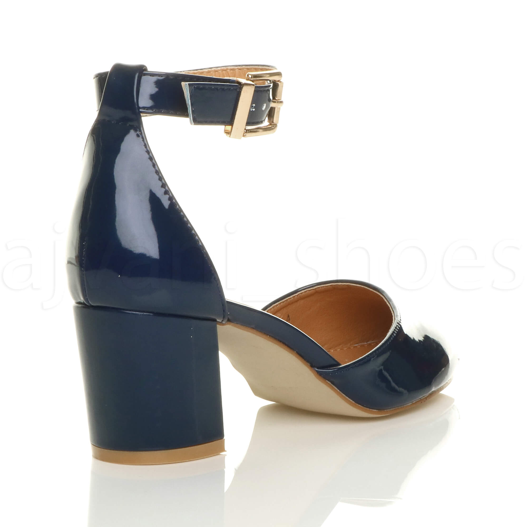 WOMENS-LADIES-LOW-MID-BLOCK-HEEL-ANKLE-STRAP-MARY-JANE-COURT-SHOES-SANDALS-SIZE thumbnail 101