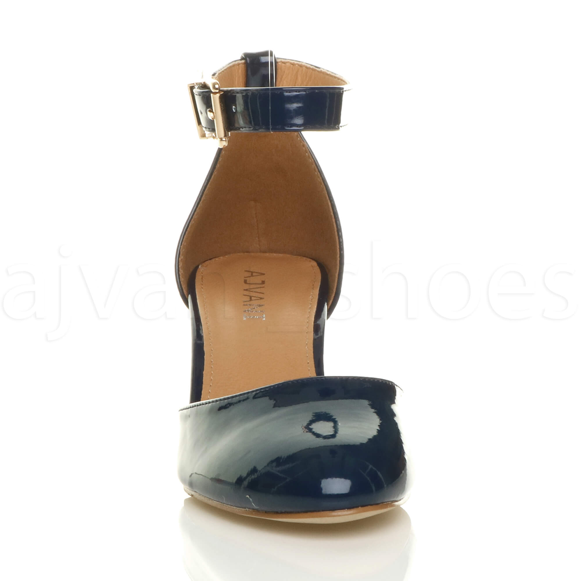 WOMENS-LADIES-LOW-MID-BLOCK-HEEL-ANKLE-STRAP-MARY-JANE-COURT-SHOES-SANDALS-SIZE thumbnail 103