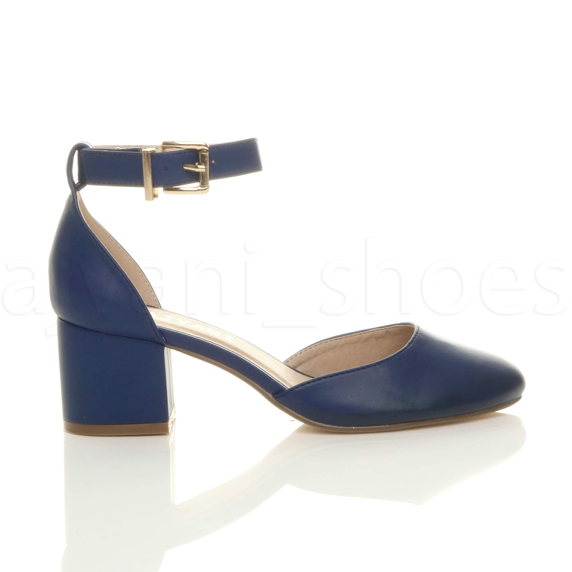 WOMENS-LADIES-LOW-MID-BLOCK-HEEL-ANKLE-STRAP-MARY-JANE-COURT-SHOES-SANDALS-SIZE thumbnail 91
