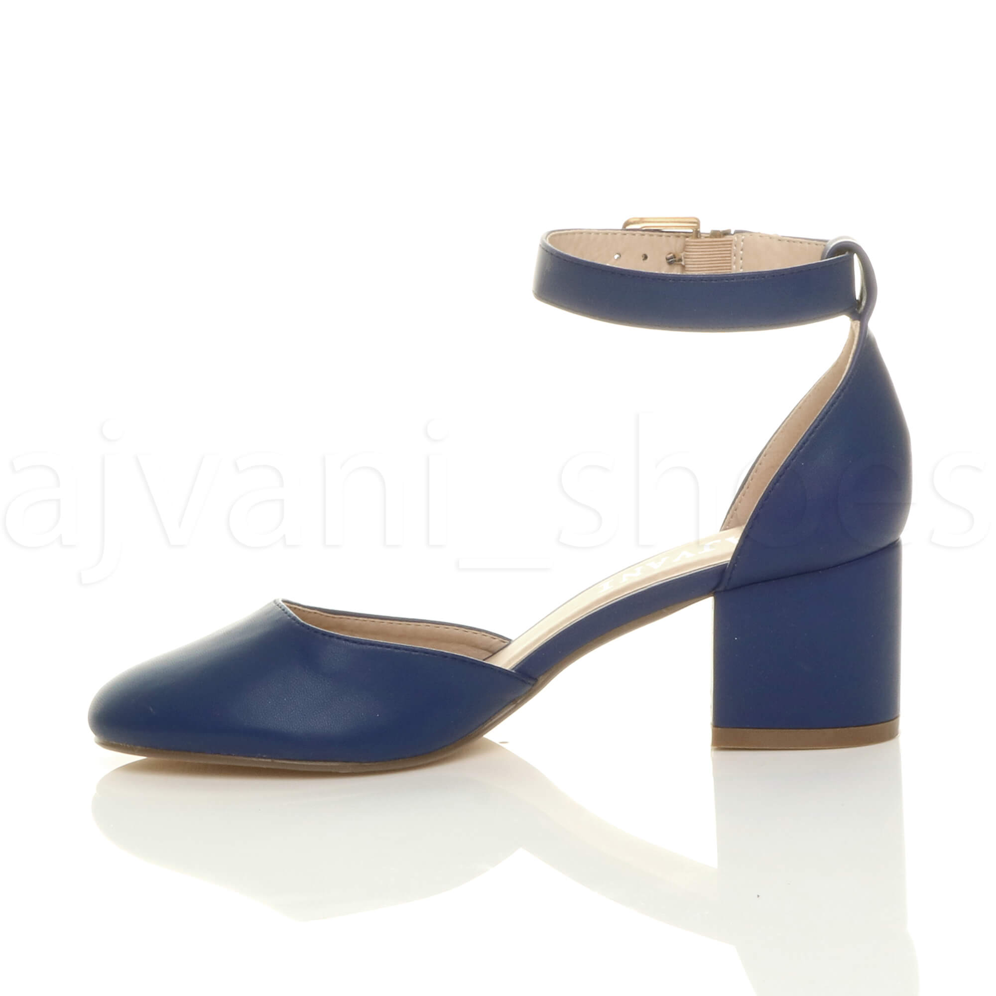 WOMENS-LADIES-LOW-MID-BLOCK-HEEL-ANKLE-STRAP-MARY-JANE-COURT-SHOES-SANDALS-SIZE thumbnail 92