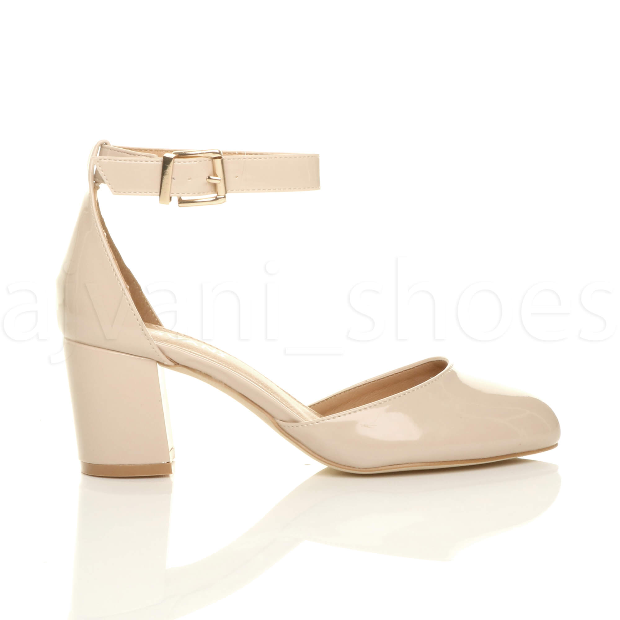 WOMENS-LADIES-LOW-MID-BLOCK-HEEL-ANKLE-STRAP-MARY-JANE-COURT-SHOES-SANDALS-SIZE thumbnail 115