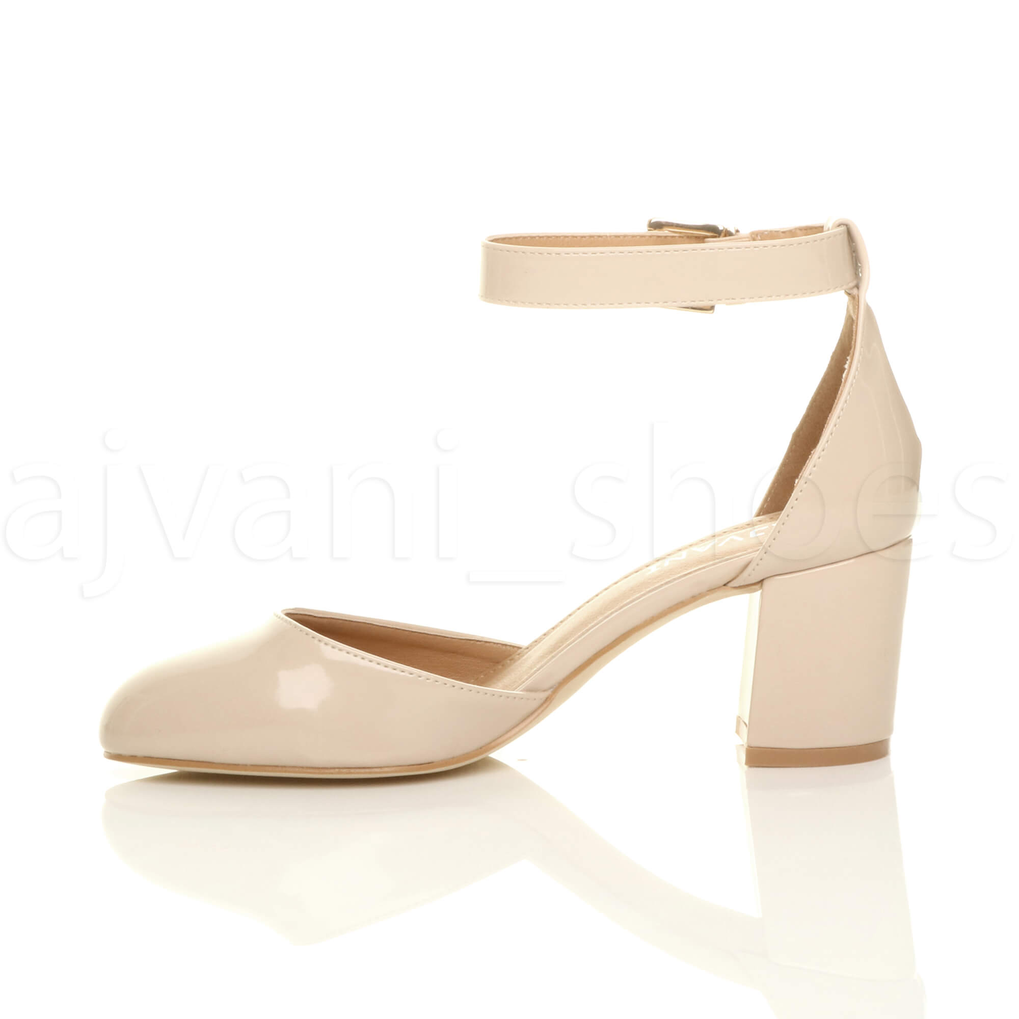 WOMENS-LADIES-LOW-MID-BLOCK-HEEL-ANKLE-STRAP-MARY-JANE-COURT-SHOES-SANDALS-SIZE thumbnail 116