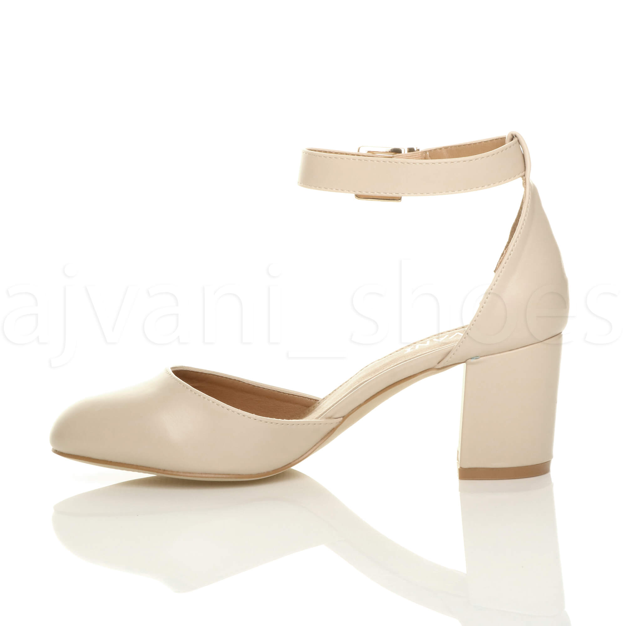 WOMENS-LADIES-LOW-MID-BLOCK-HEEL-ANKLE-STRAP-MARY-JANE-COURT-SHOES-SANDALS-SIZE thumbnail 108