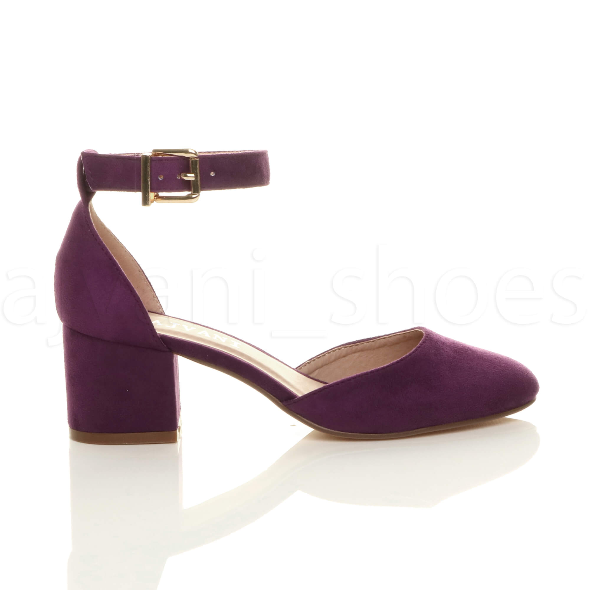 WOMENS-LADIES-LOW-MID-BLOCK-HEEL-ANKLE-STRAP-MARY-JANE-COURT-SHOES-SANDALS-SIZE thumbnail 123