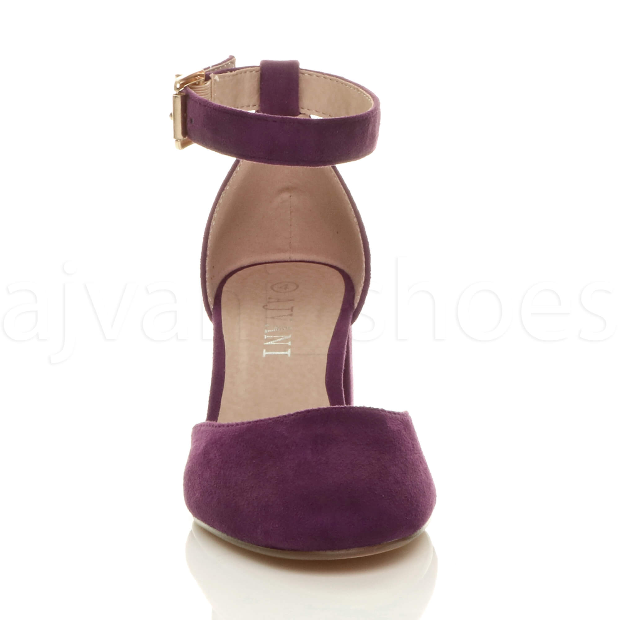 WOMENS-LADIES-LOW-MID-BLOCK-HEEL-ANKLE-STRAP-MARY-JANE-COURT-SHOES-SANDALS-SIZE thumbnail 127