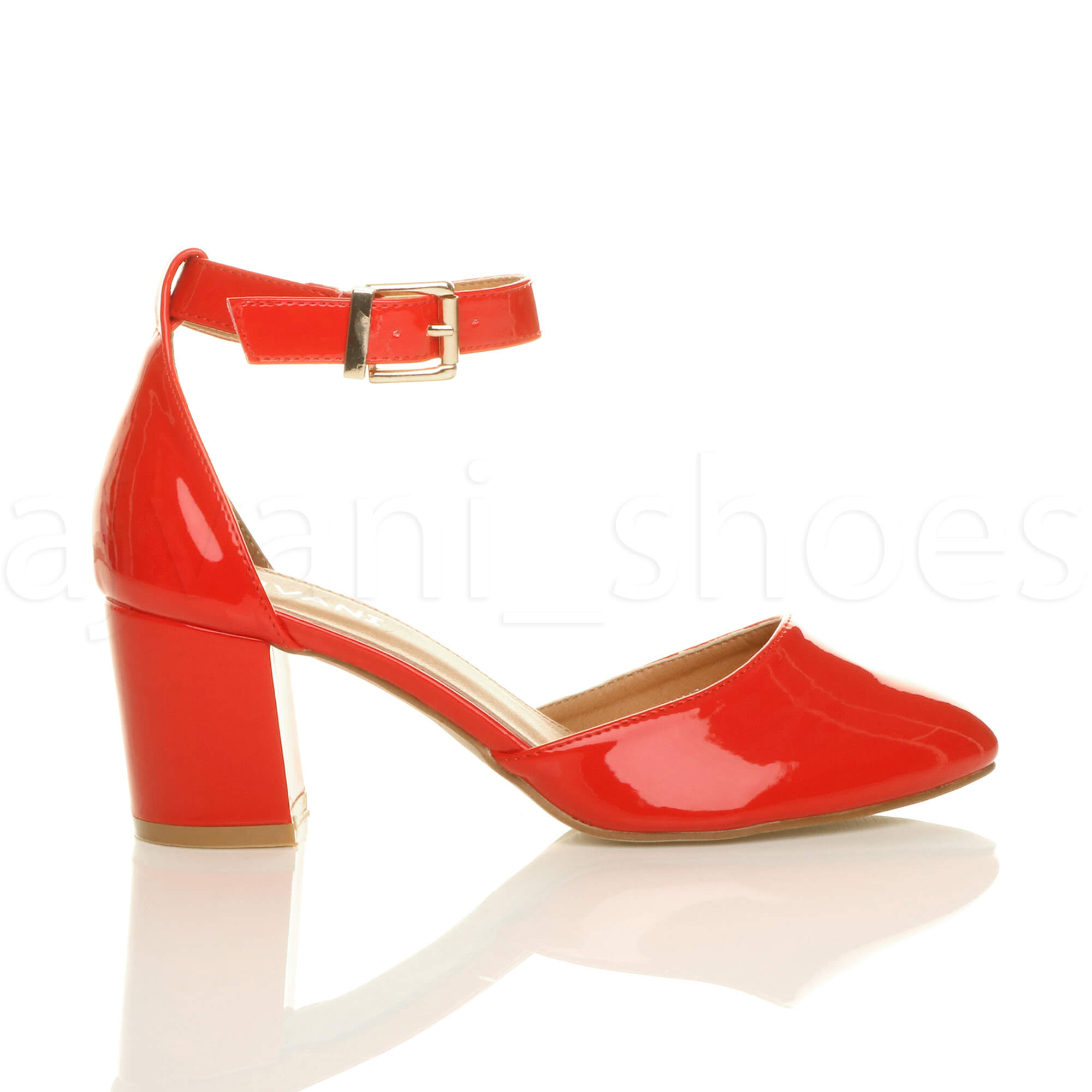 WOMENS-LADIES-LOW-MID-BLOCK-HEEL-ANKLE-STRAP-MARY-JANE-COURT-SHOES-SANDALS-SIZE thumbnail 131