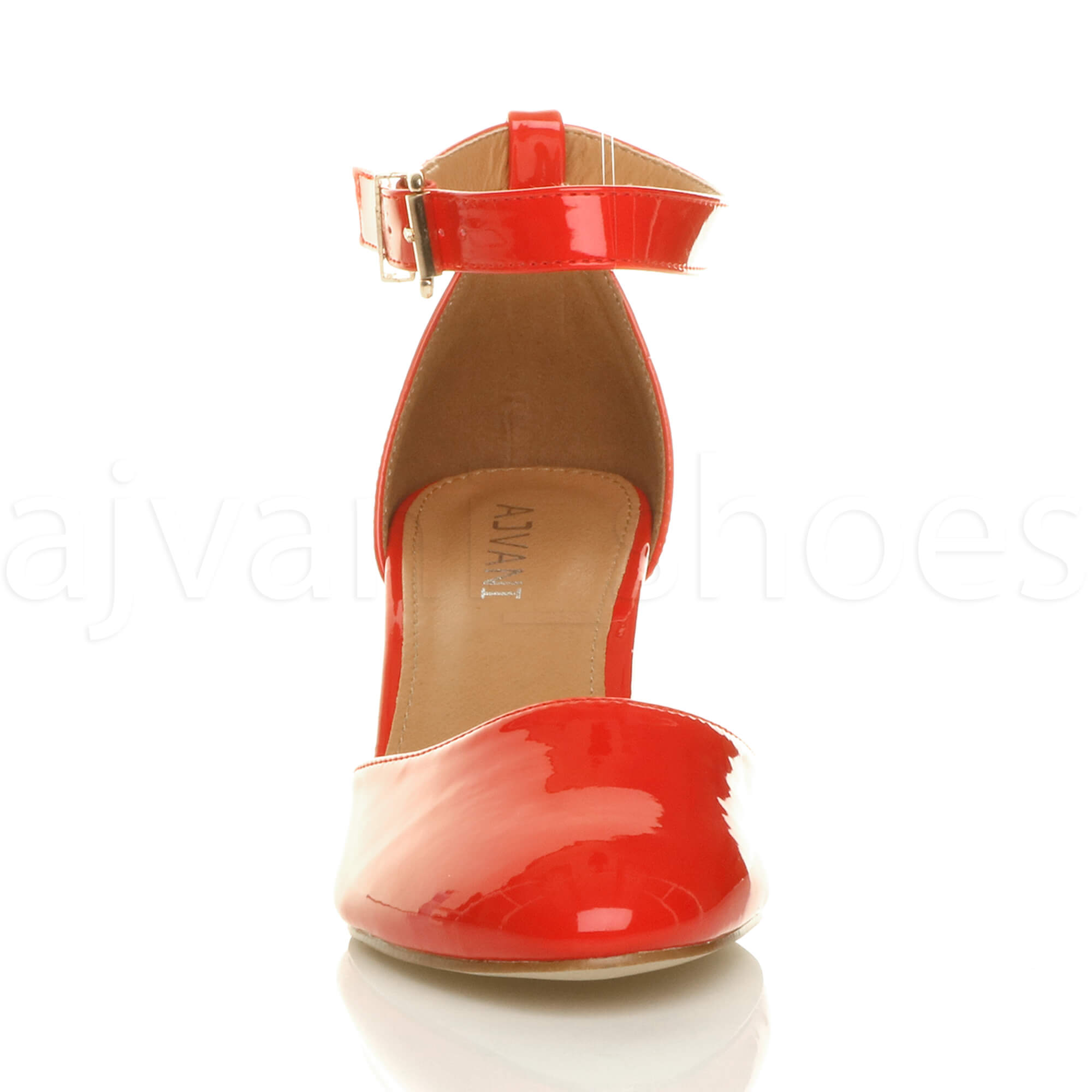 WOMENS-LADIES-LOW-MID-BLOCK-HEEL-ANKLE-STRAP-MARY-JANE-COURT-SHOES-SANDALS-SIZE thumbnail 135