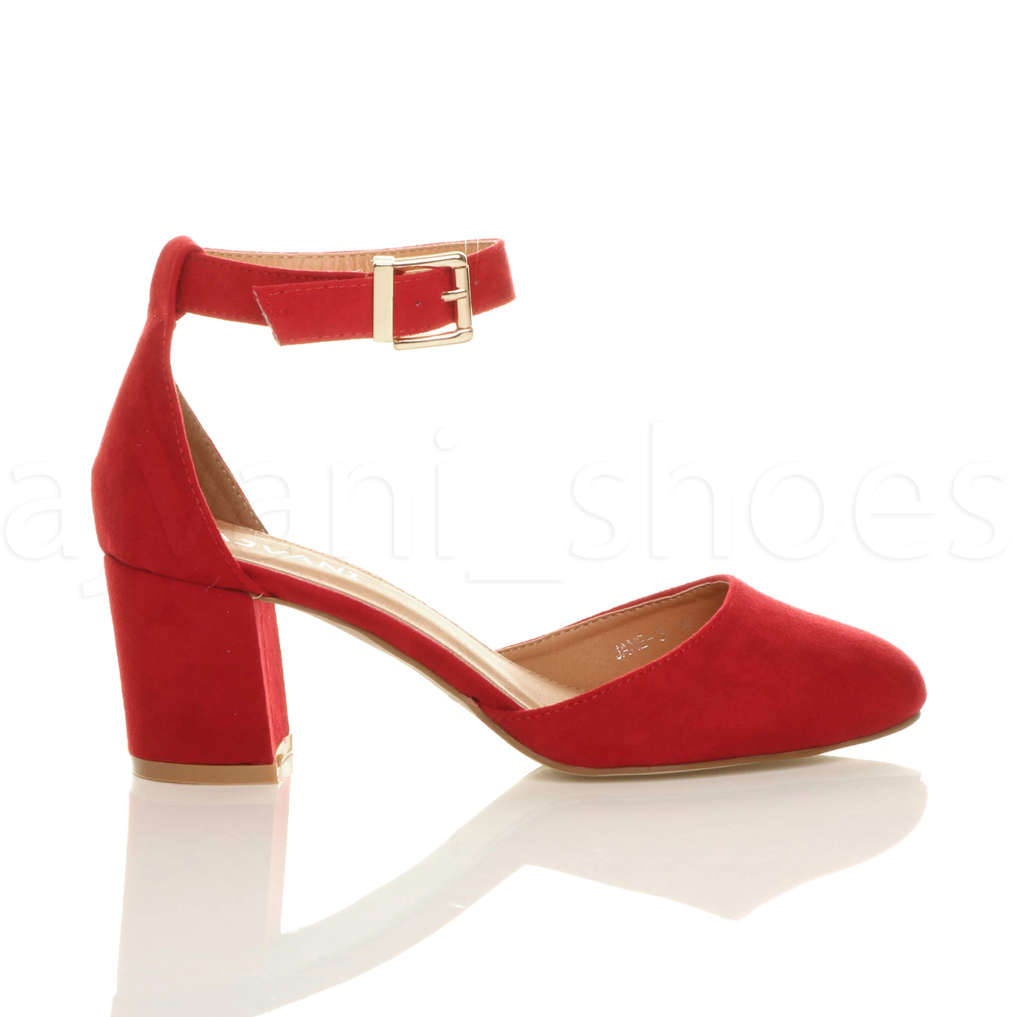 WOMENS-LADIES-LOW-MID-BLOCK-HEEL-ANKLE-STRAP-MARY-JANE-COURT-SHOES-SANDALS-SIZE thumbnail 139