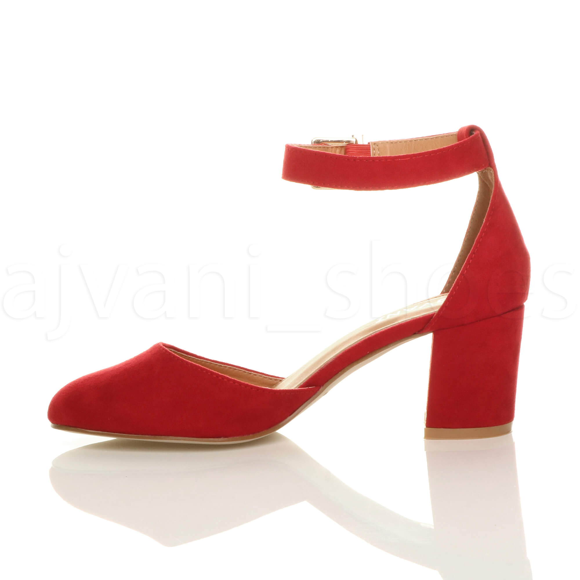 WOMENS-LADIES-LOW-MID-BLOCK-HEEL-ANKLE-STRAP-MARY-JANE-COURT-SHOES-SANDALS-SIZE thumbnail 140