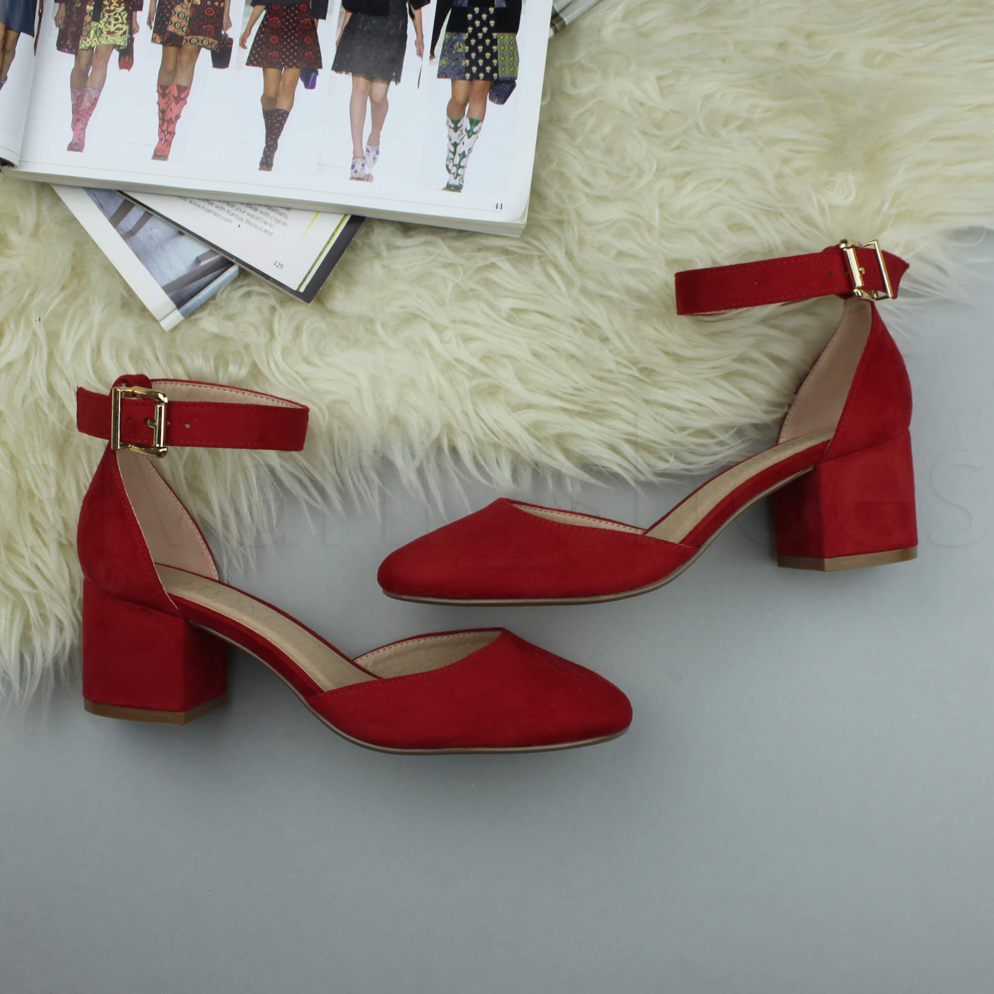 WOMENS-LADIES-LOW-MID-BLOCK-HEEL-ANKLE-STRAP-MARY-JANE-COURT-SHOES-SANDALS-SIZE thumbnail 141