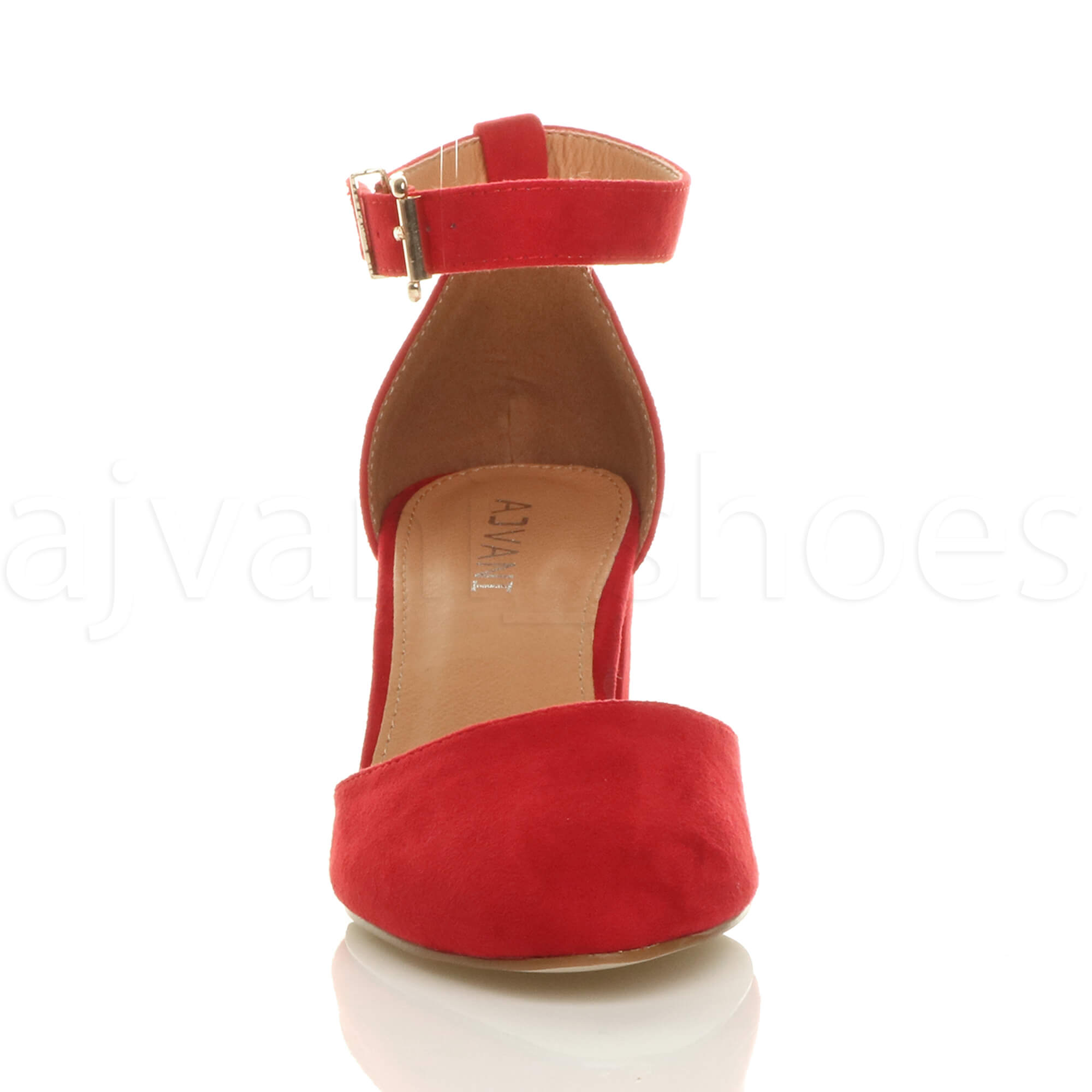 WOMENS-LADIES-LOW-MID-BLOCK-HEEL-ANKLE-STRAP-MARY-JANE-COURT-SHOES-SANDALS-SIZE thumbnail 143
