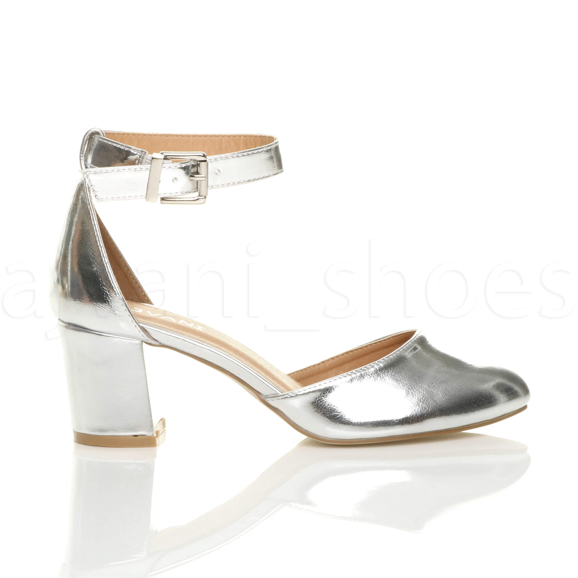 WOMENS-LADIES-LOW-MID-BLOCK-HEEL-ANKLE-STRAP-MARY-JANE-COURT-SHOES-SANDALS-SIZE thumbnail 171