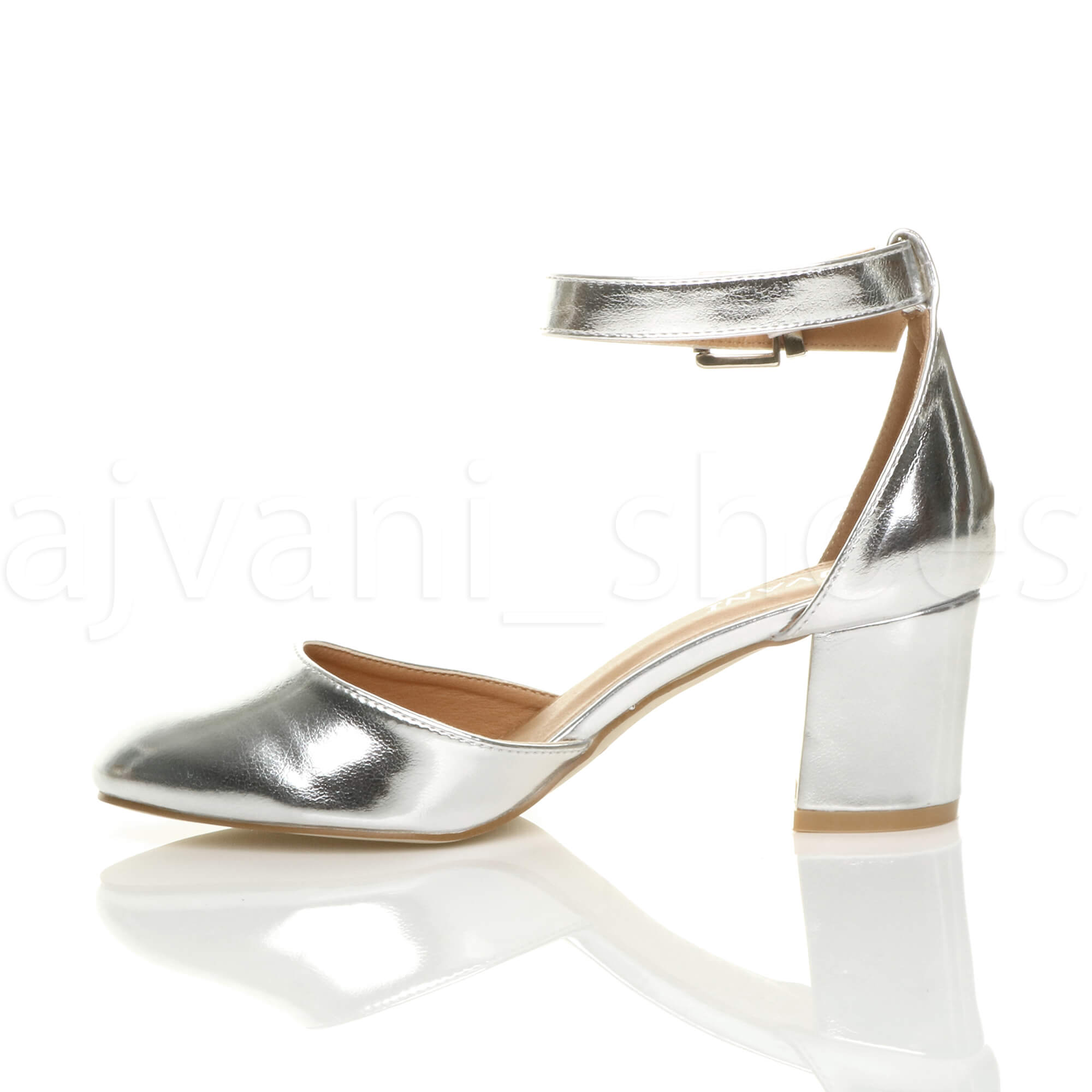 WOMENS-LADIES-LOW-MID-BLOCK-HEEL-ANKLE-STRAP-MARY-JANE-COURT-SHOES-SANDALS-SIZE thumbnail 172