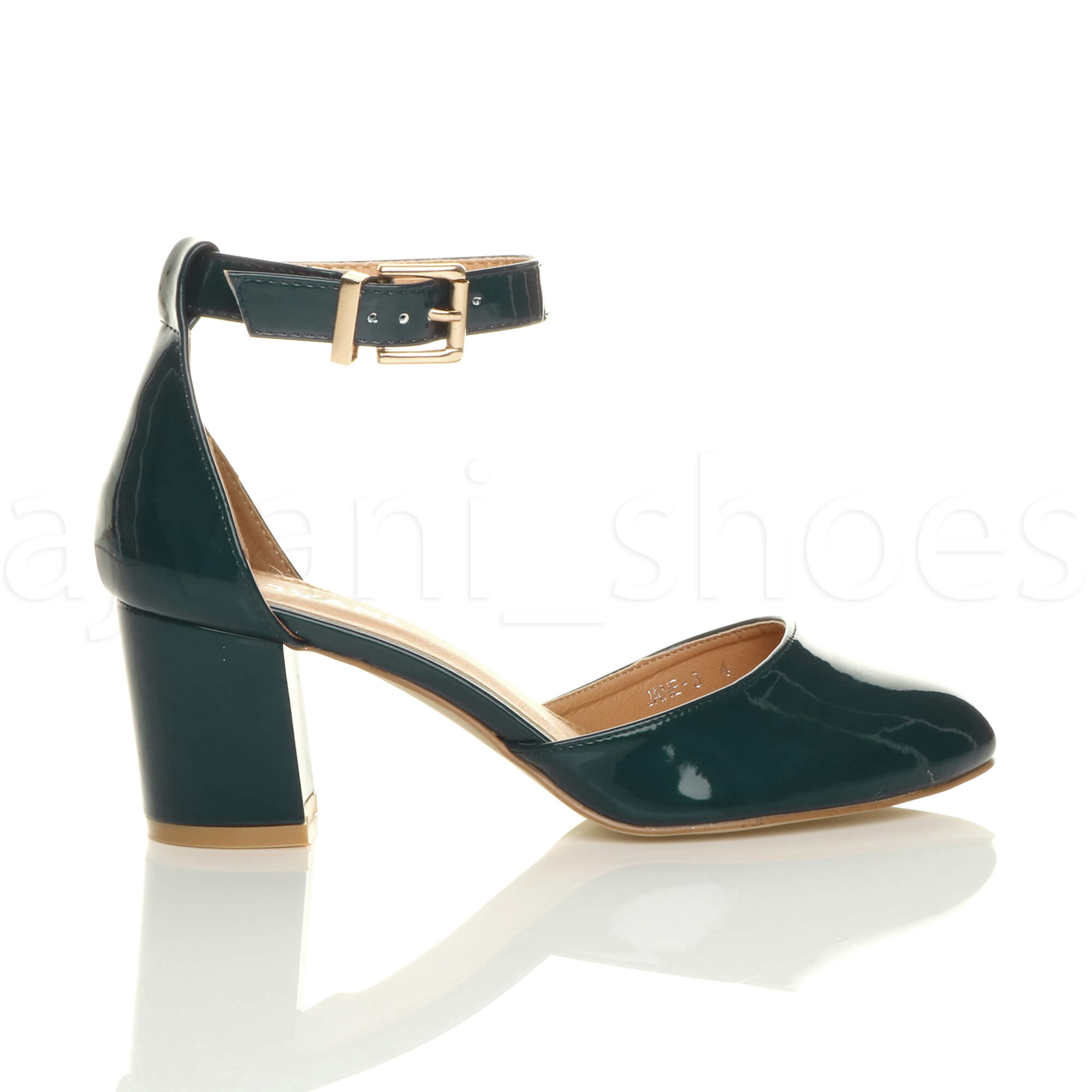 WOMENS-LADIES-LOW-MID-BLOCK-HEEL-ANKLE-STRAP-MARY-JANE-COURT-SHOES-SANDALS-SIZE thumbnail 187