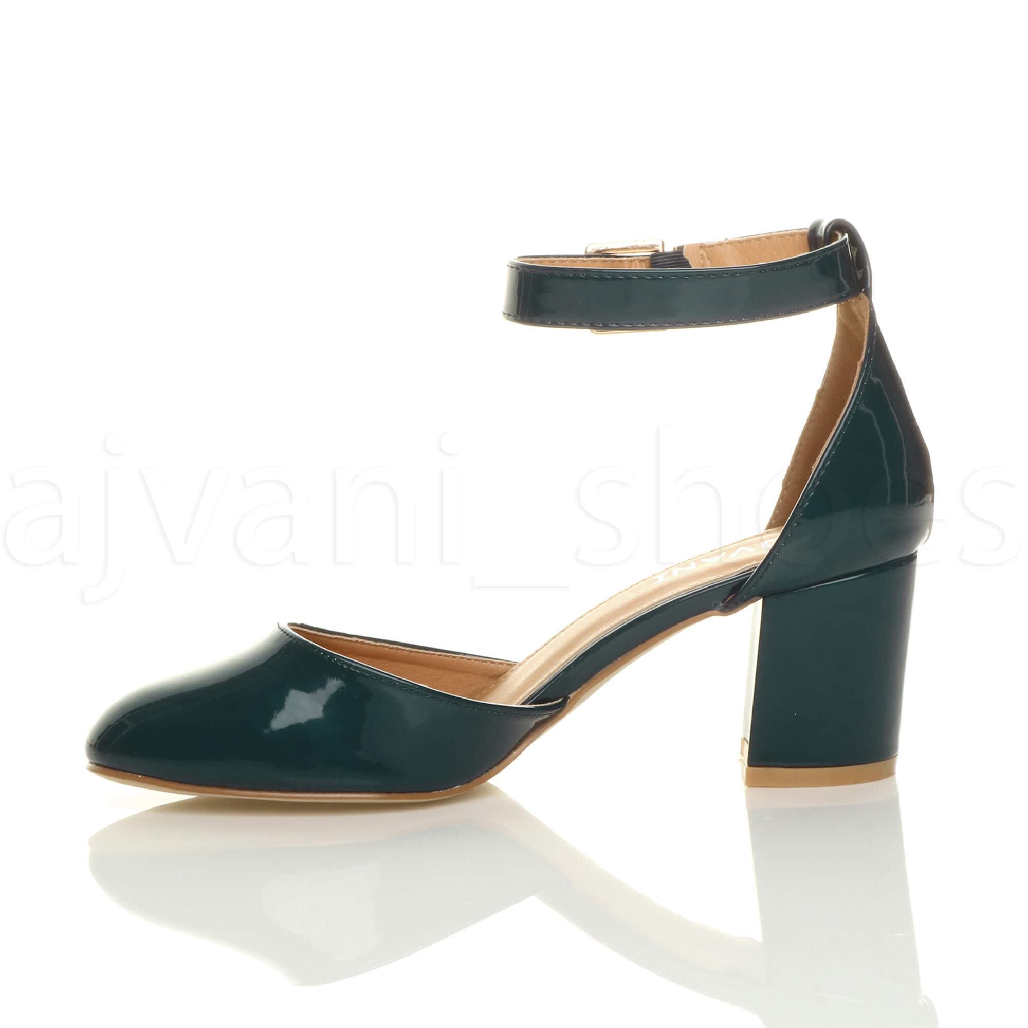 WOMENS-LADIES-LOW-MID-BLOCK-HEEL-ANKLE-STRAP-MARY-JANE-COURT-SHOES-SANDALS-SIZE thumbnail 188