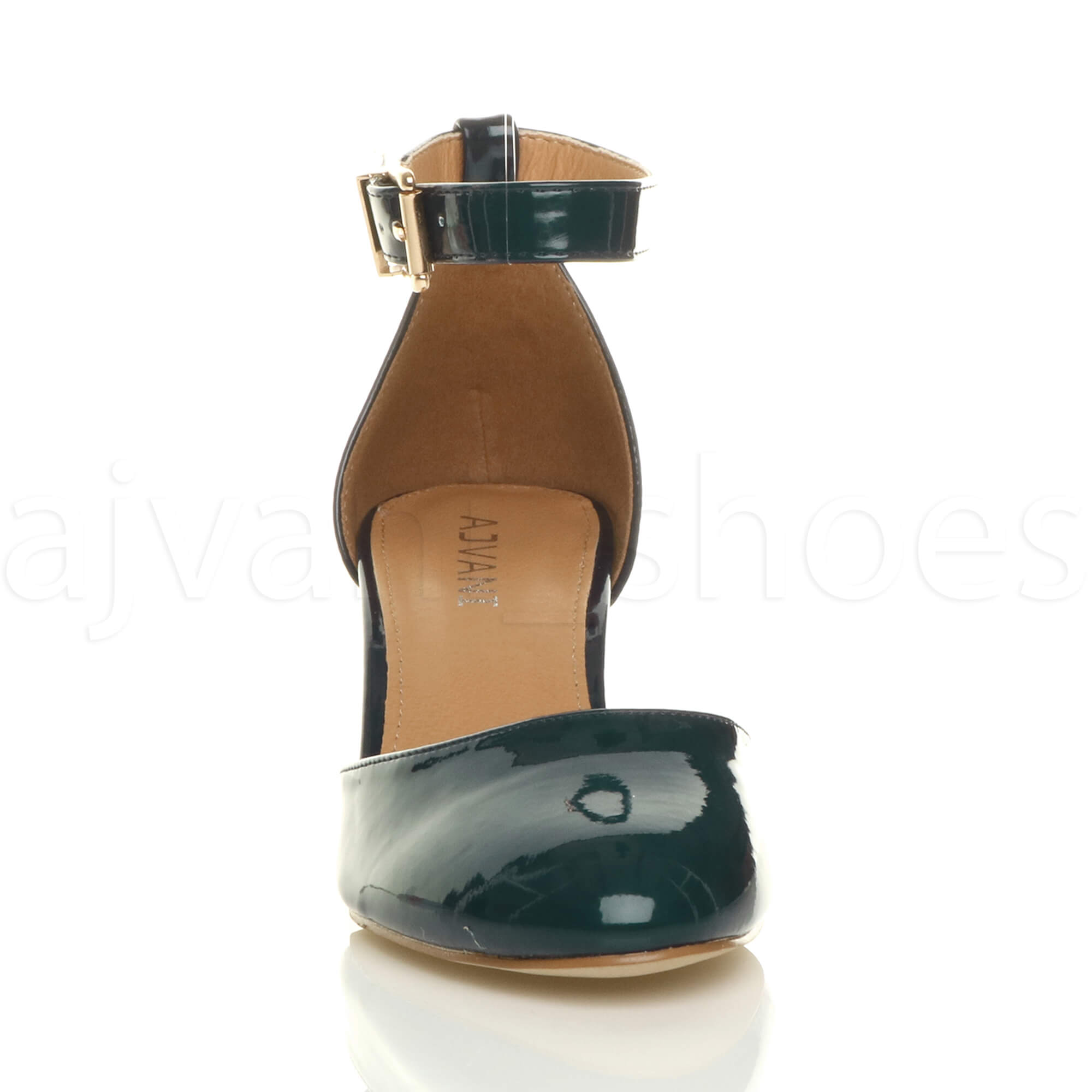 WOMENS-LADIES-LOW-MID-BLOCK-HEEL-ANKLE-STRAP-MARY-JANE-COURT-SHOES-SANDALS-SIZE thumbnail 191