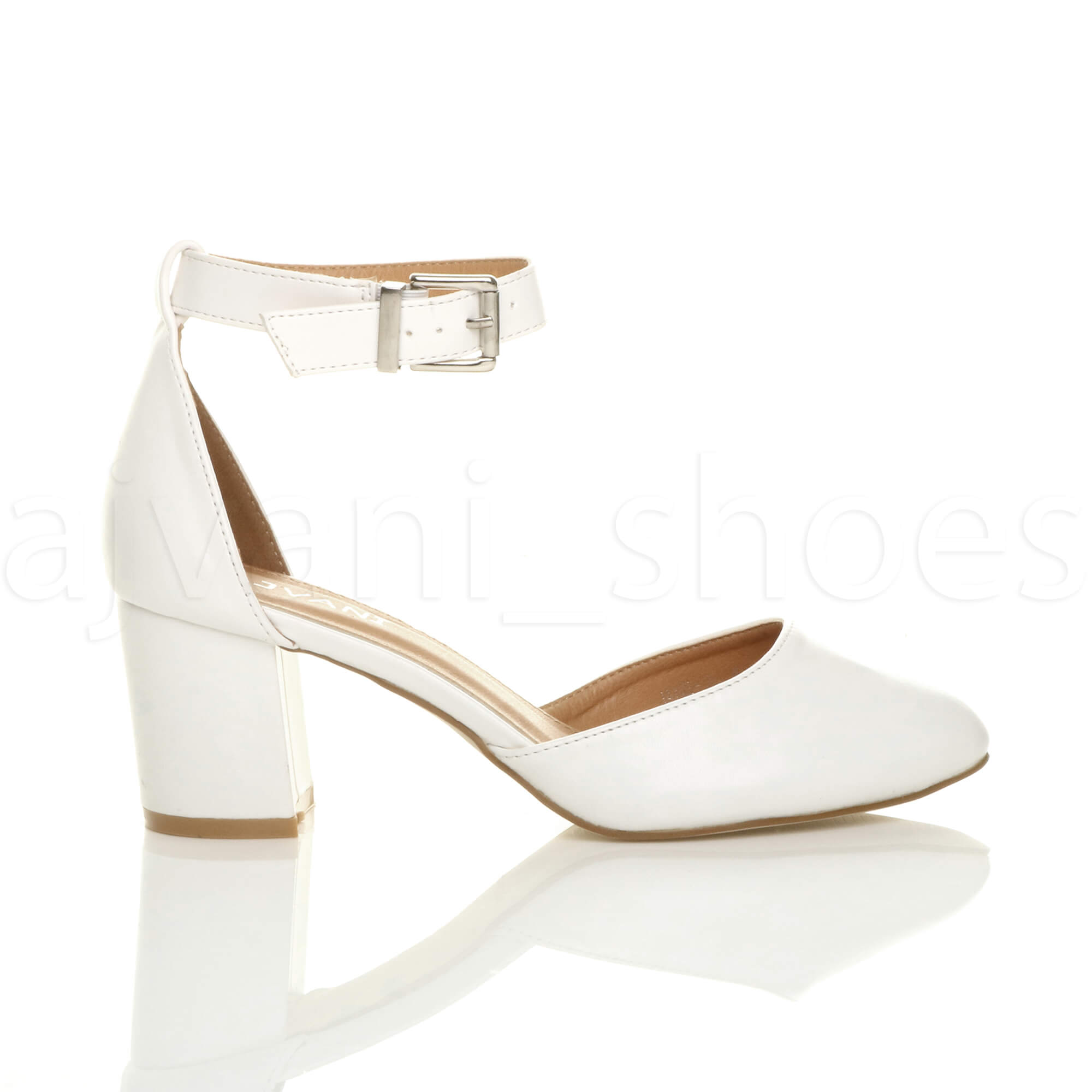 WOMENS-LADIES-LOW-MID-BLOCK-HEEL-ANKLE-STRAP-MARY-JANE-COURT-SHOES-SANDALS-SIZE thumbnail 195