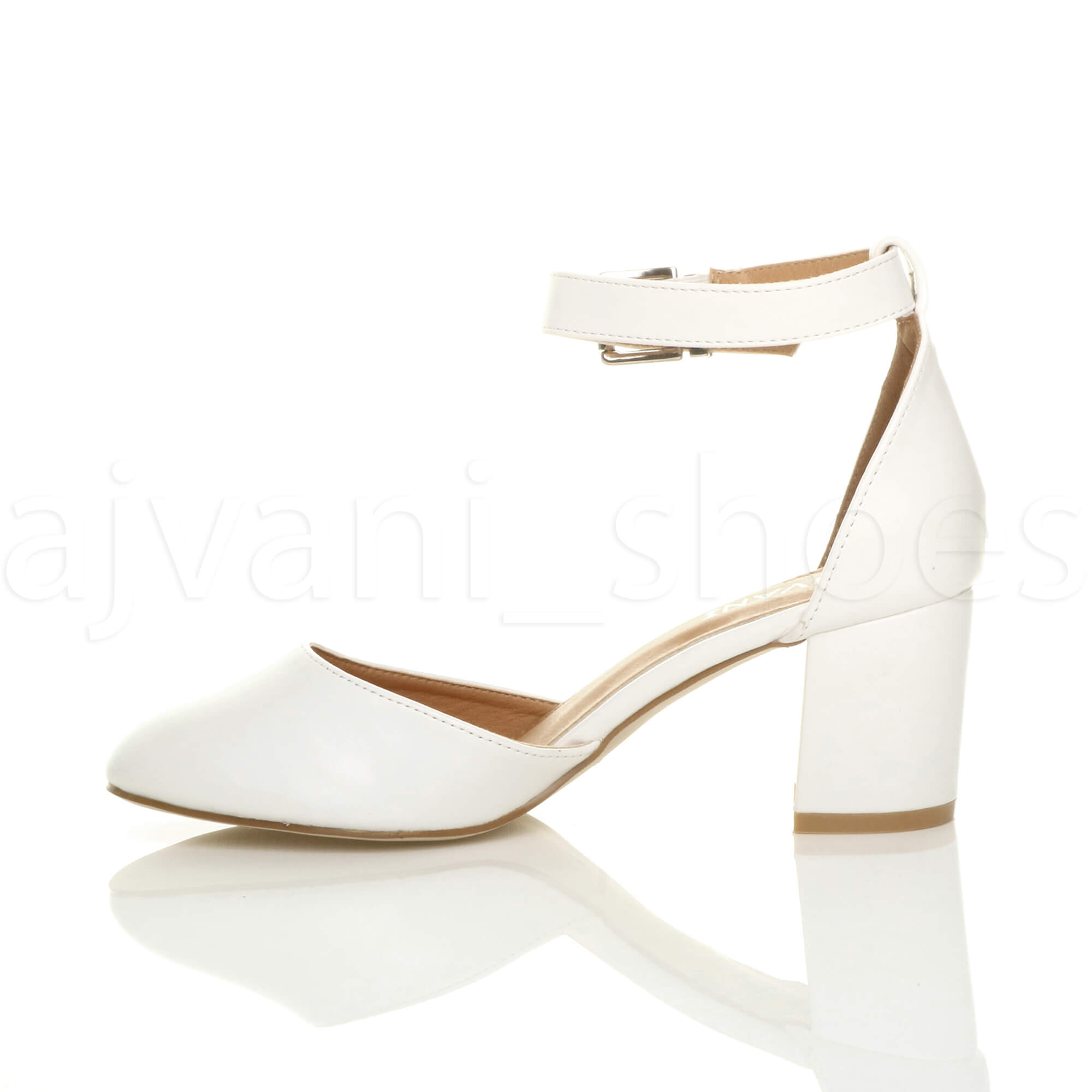 WOMENS-LADIES-LOW-MID-BLOCK-HEEL-ANKLE-STRAP-MARY-JANE-COURT-SHOES-SANDALS-SIZE thumbnail 196
