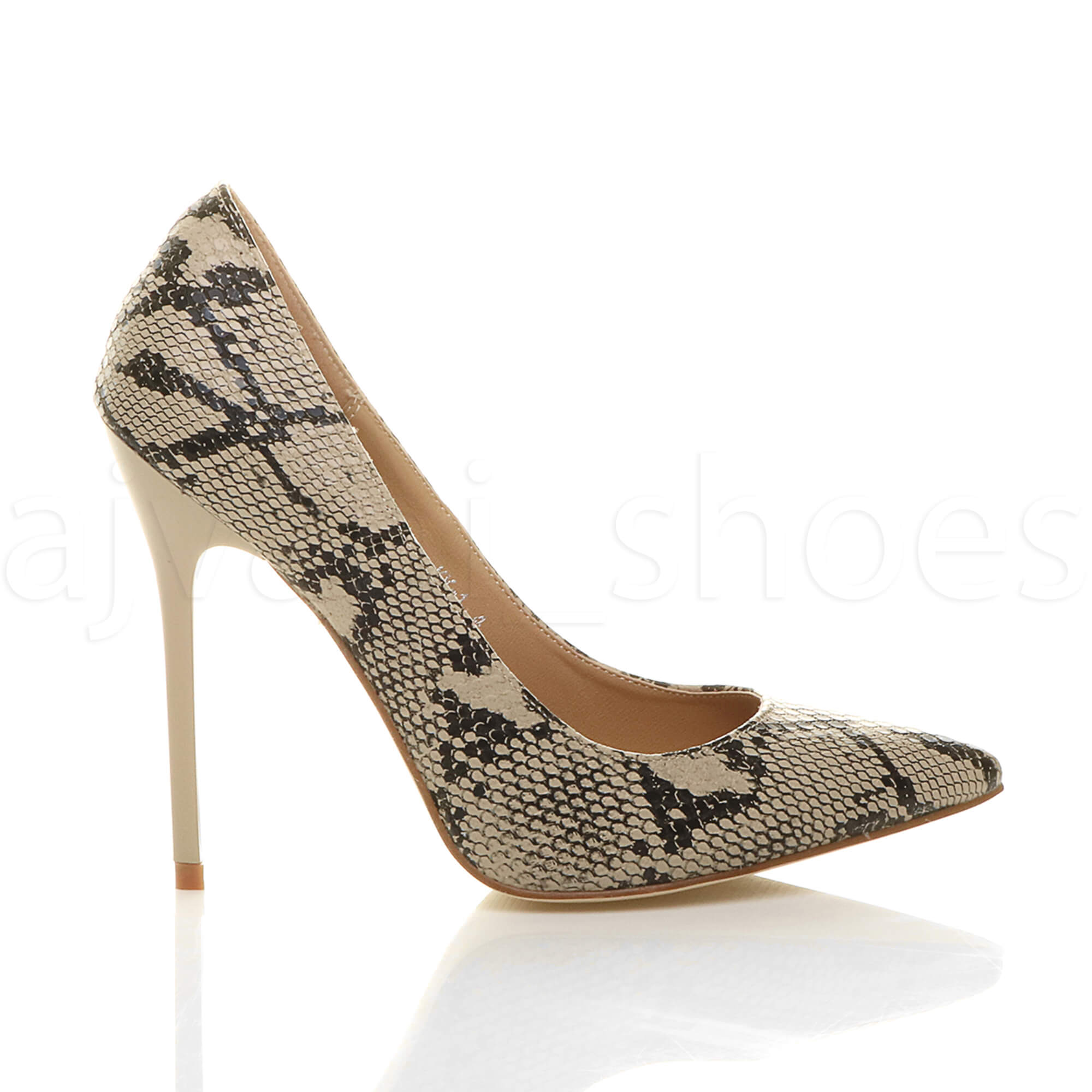 WOMENS-LADIES-HIGH-HEEL-POINTED-CONTRAST-COURT-SMART-PARTY-WORK-SHOES-PUMPS-SIZE thumbnail 3