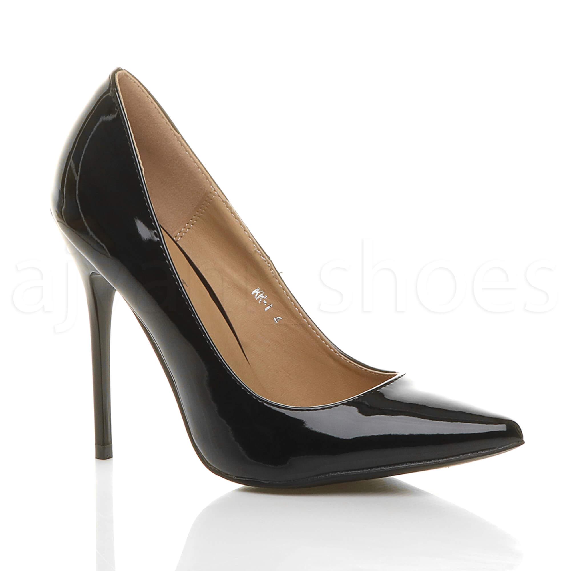 ladies black patent court shoes size 36