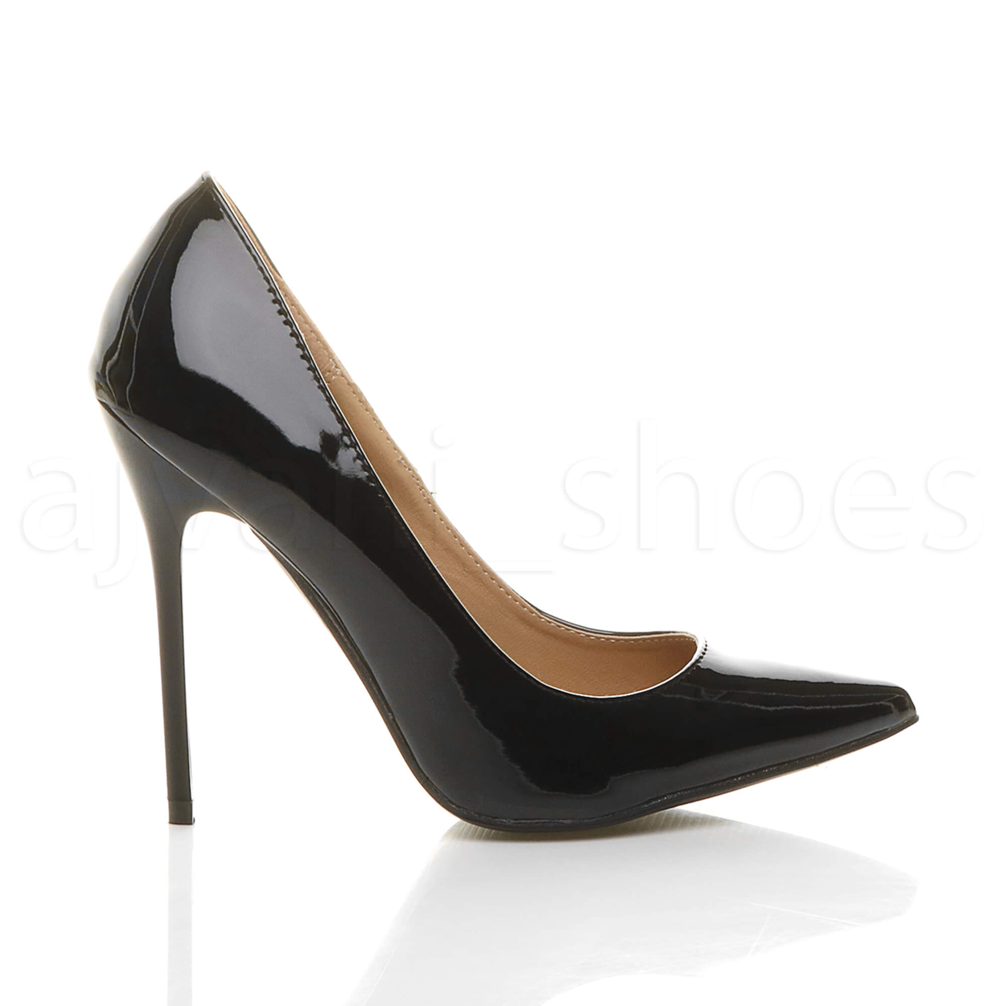 WOMENS-LADIES-HIGH-HEEL-POINTED-CONTRAST-COURT-SMART-PARTY-WORK-SHOES-PUMPS-SIZE thumbnail 19