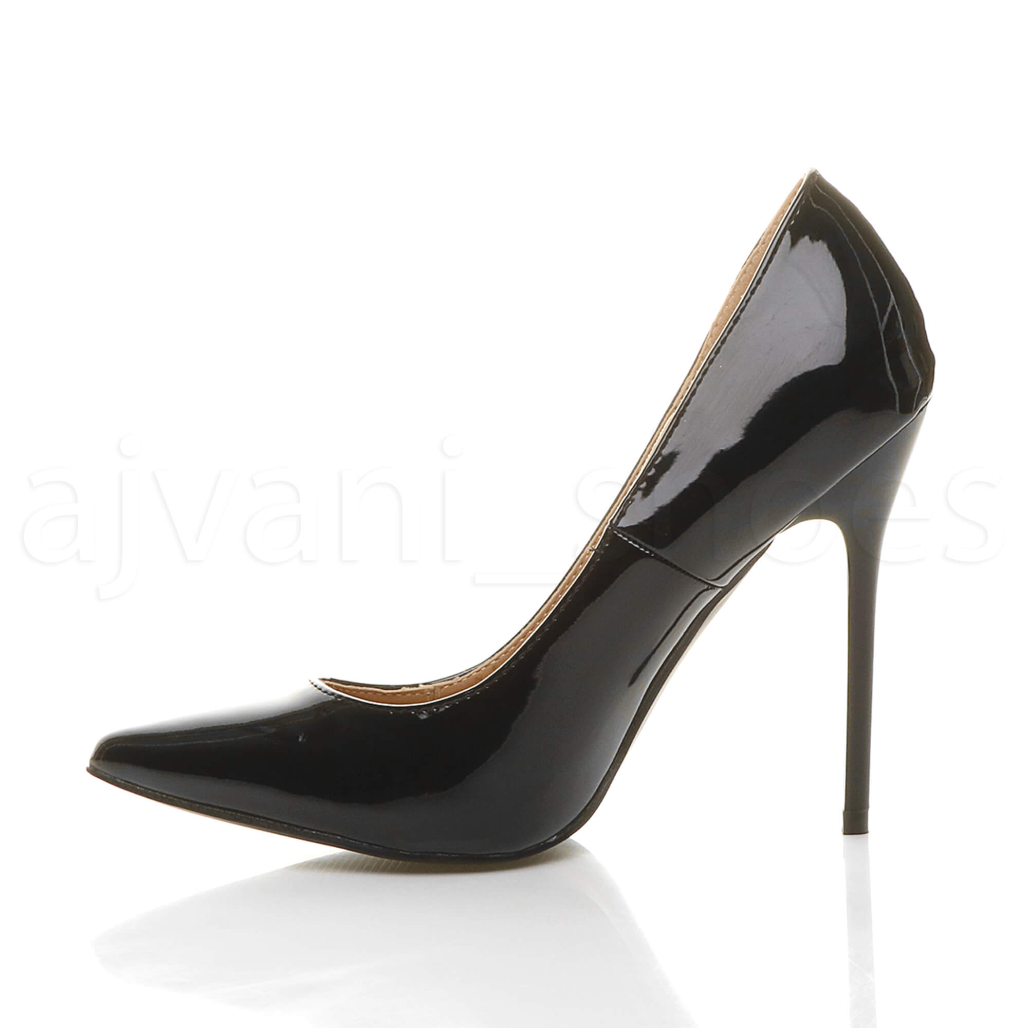 WOMENS-LADIES-HIGH-HEEL-POINTED-CONTRAST-COURT-SMART-PARTY-WORK-SHOES-PUMPS-SIZE thumbnail 20