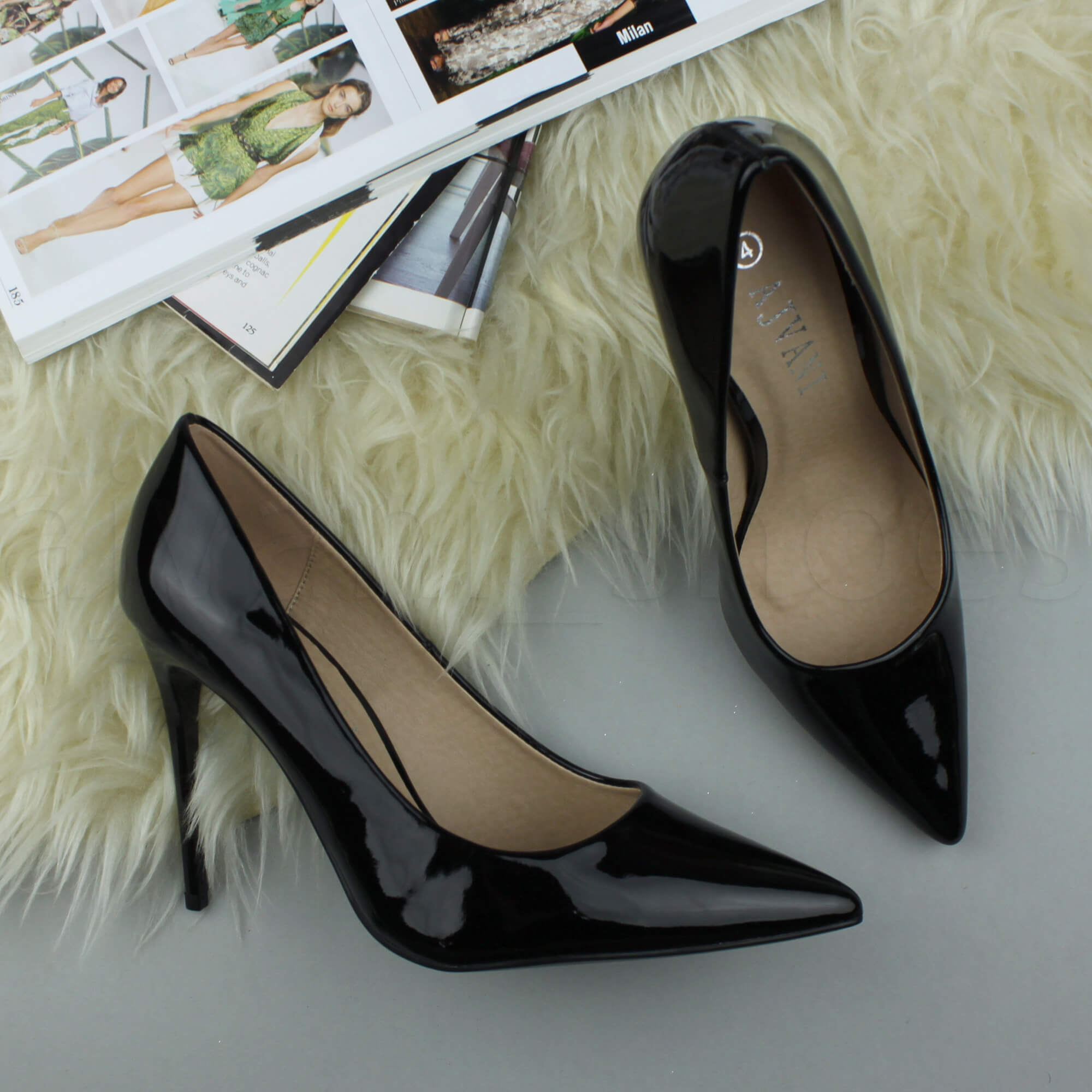 WOMENS-LADIES-HIGH-HEEL-POINTED-CONTRAST-COURT-SMART-PARTY-WORK-SHOES-PUMPS-SIZE thumbnail 21
