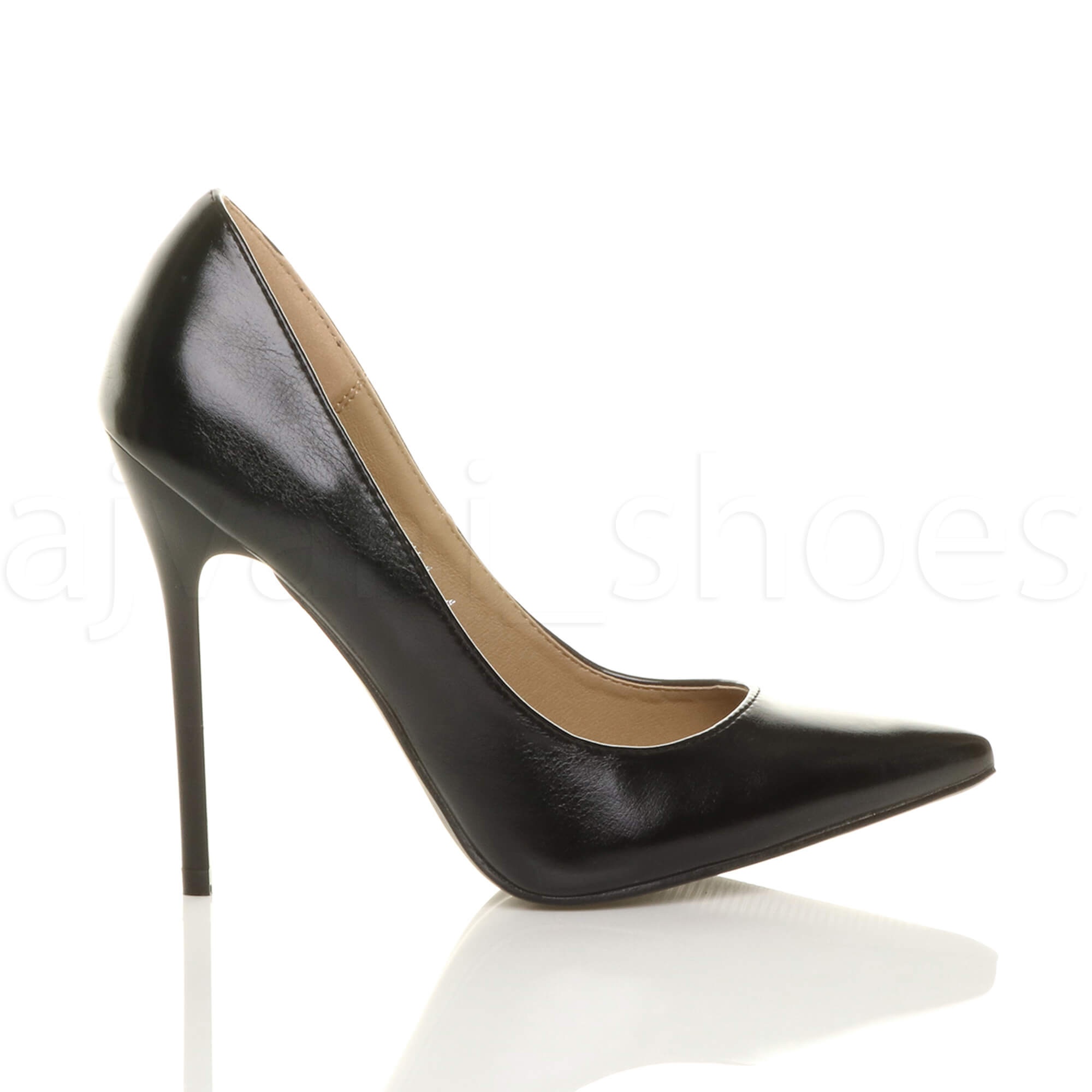 WOMENS-LADIES-HIGH-HEEL-POINTED-CONTRAST-COURT-SMART-PARTY-WORK-SHOES-PUMPS-SIZE thumbnail 11
