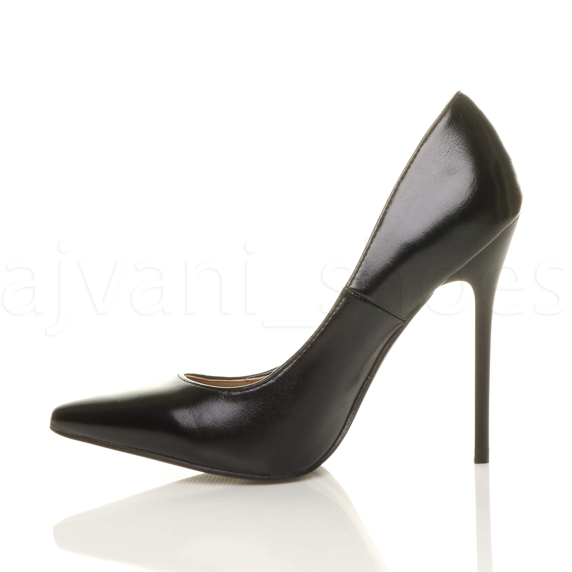 WOMENS-LADIES-HIGH-HEEL-POINTED-CONTRAST-COURT-SMART-PARTY-WORK-SHOES-PUMPS-SIZE thumbnail 12