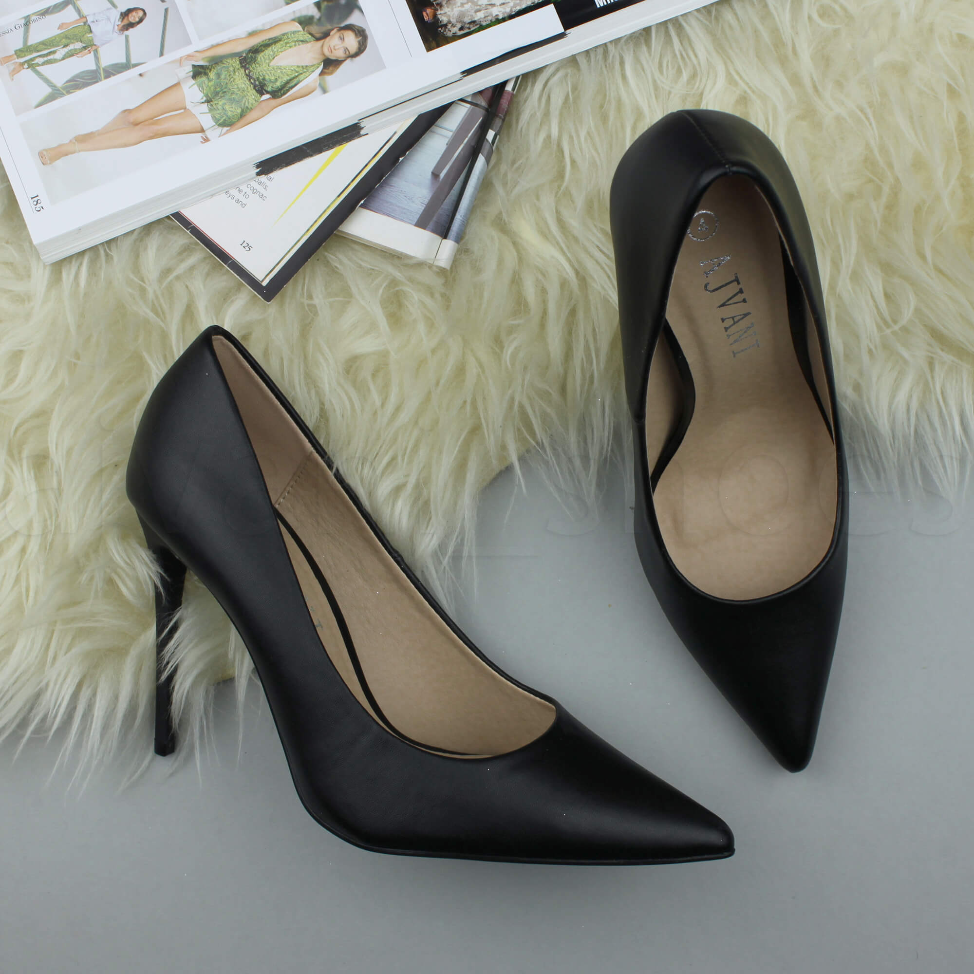 WOMENS-LADIES-HIGH-HEEL-POINTED-CONTRAST-COURT-SMART-PARTY-WORK-SHOES-PUMPS-SIZE thumbnail 13