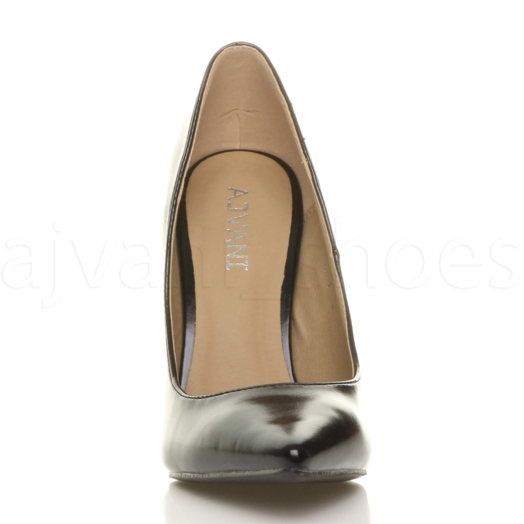 WOMENS-LADIES-HIGH-HEEL-POINTED-CONTRAST-COURT-SMART-PARTY-WORK-SHOES-PUMPS-SIZE thumbnail 15