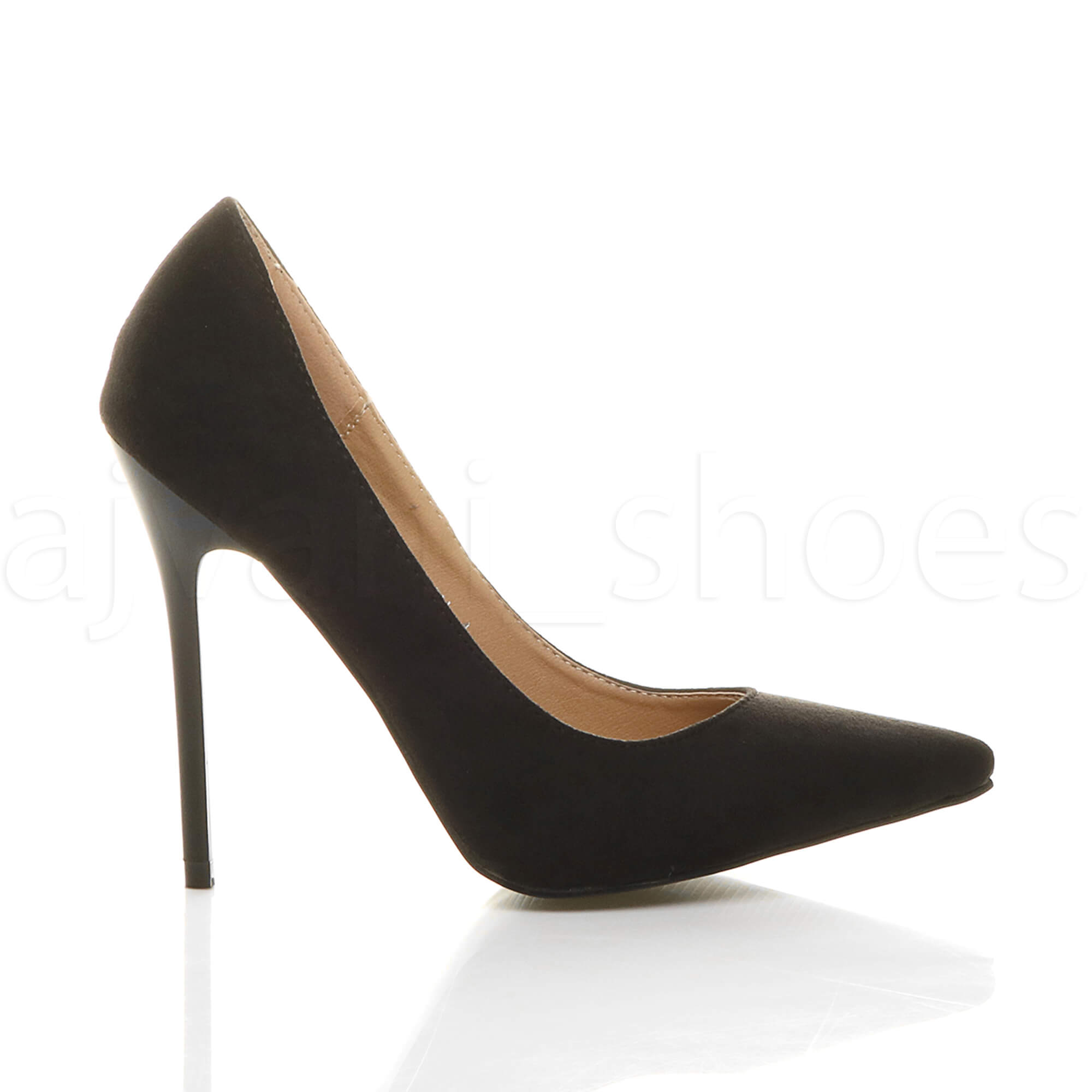 WOMENS-LADIES-HIGH-HEEL-POINTED-CONTRAST-COURT-SMART-PARTY-WORK-SHOES-PUMPS-SIZE thumbnail 27