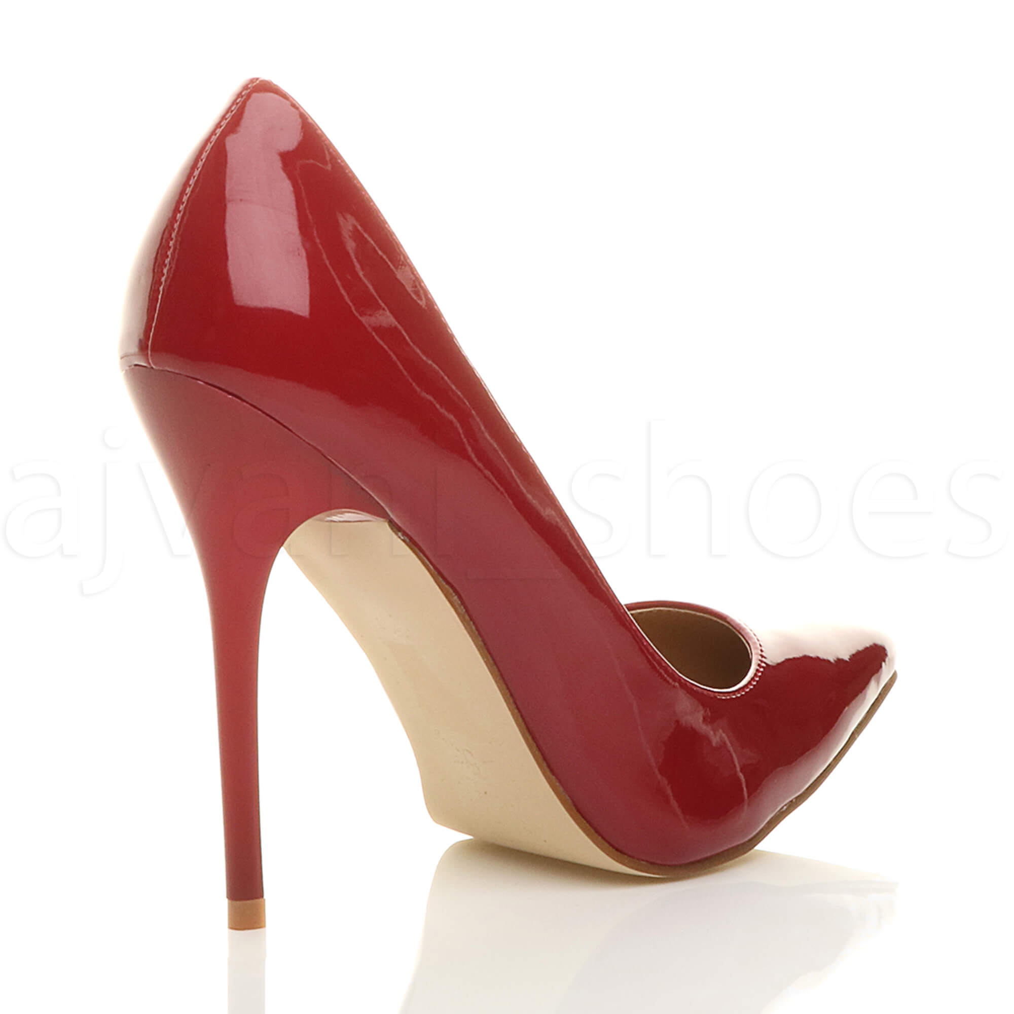 WOMENS-LADIES-HIGH-HEEL-POINTED-CONTRAST-COURT-SMART-PARTY-WORK-SHOES-PUMPS-SIZE thumbnail 37