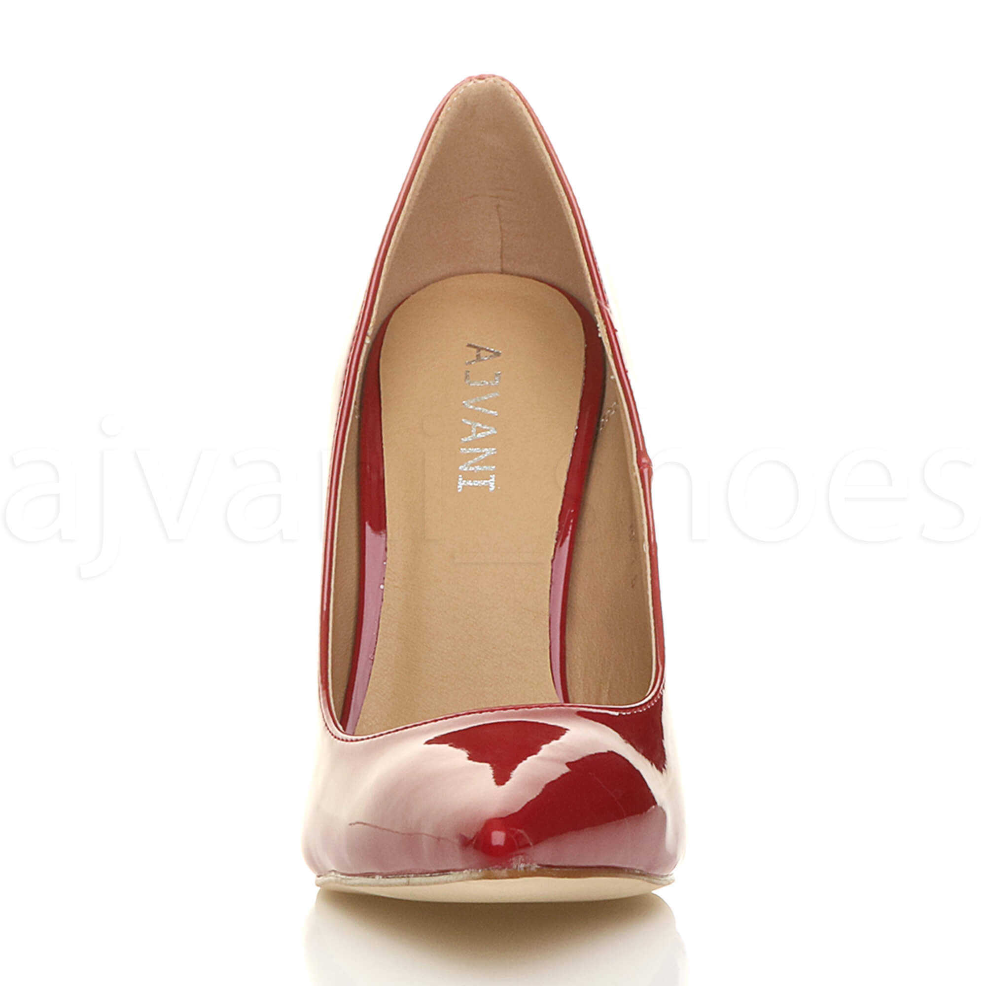 WOMENS-LADIES-HIGH-HEEL-POINTED-CONTRAST-COURT-SMART-PARTY-WORK-SHOES-PUMPS-SIZE