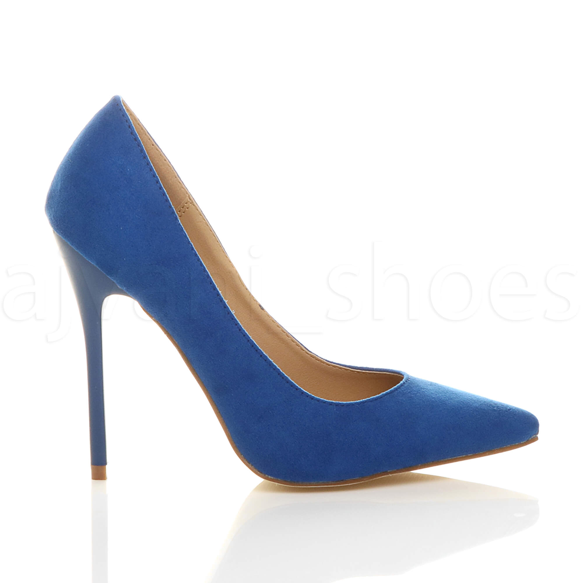 WOMENS-LADIES-HIGH-HEEL-POINTED-CONTRAST-COURT-SMART-PARTY-WORK-SHOES-PUMPS-SIZE thumbnail 43