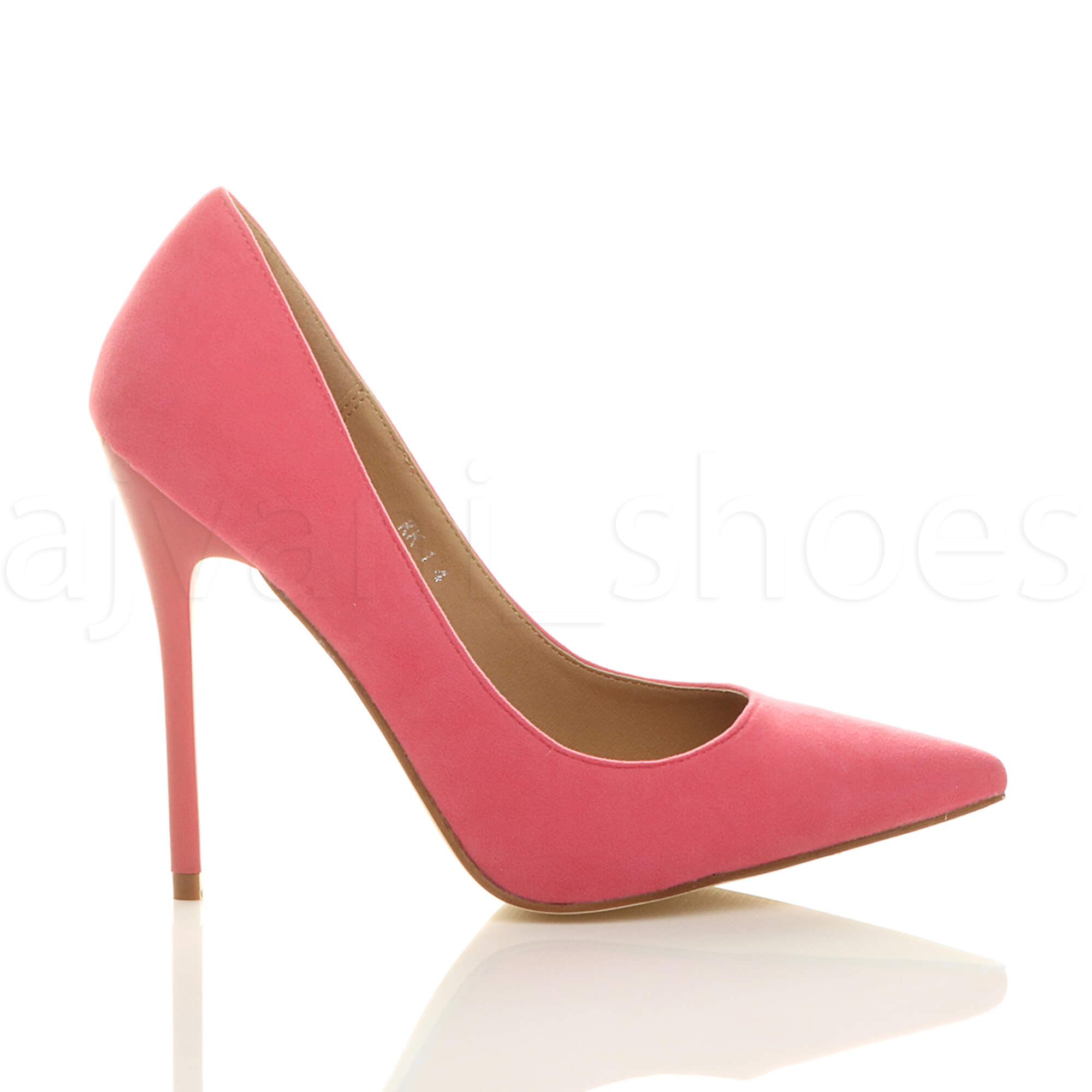 WOMENS-LADIES-HIGH-HEEL-POINTED-CONTRAST-COURT-SMART-PARTY-WORK-SHOES-PUMPS-SIZE thumbnail 137