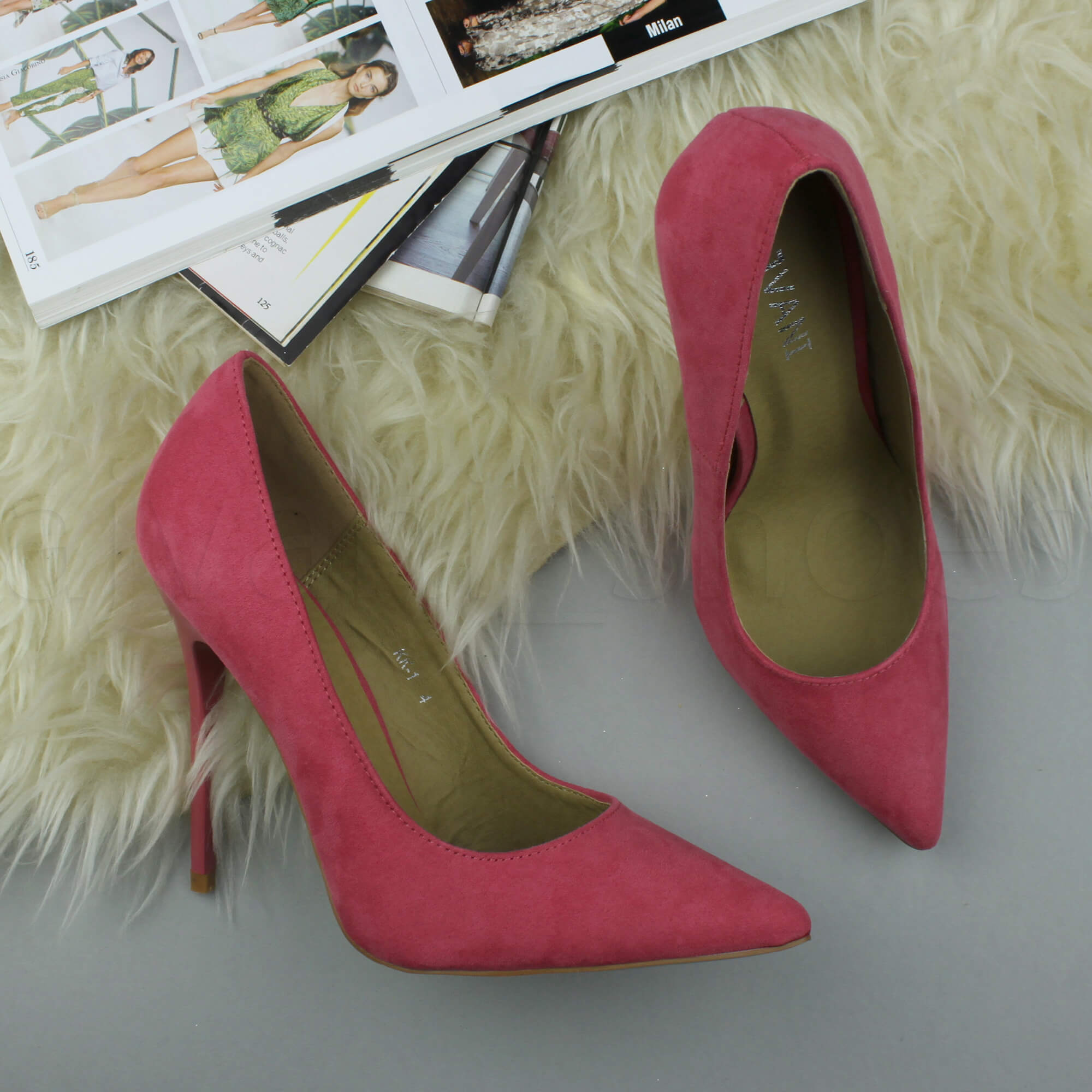 WOMENS-LADIES-HIGH-HEEL-POINTED-CONTRAST-COURT-SMART-PARTY-WORK-SHOES-PUMPS-SIZE thumbnail 139