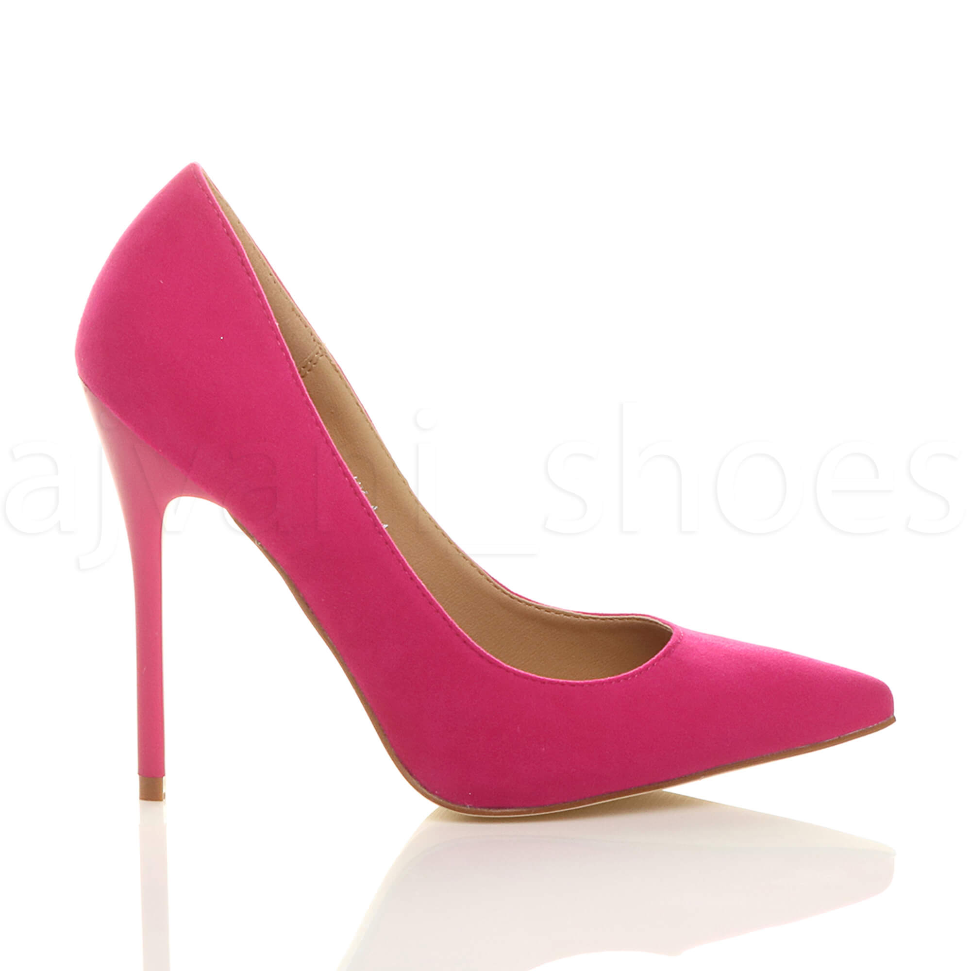 WOMENS-LADIES-HIGH-HEEL-POINTED-CONTRAST-COURT-SMART-PARTY-WORK-SHOES-PUMPS-SIZE thumbnail 81