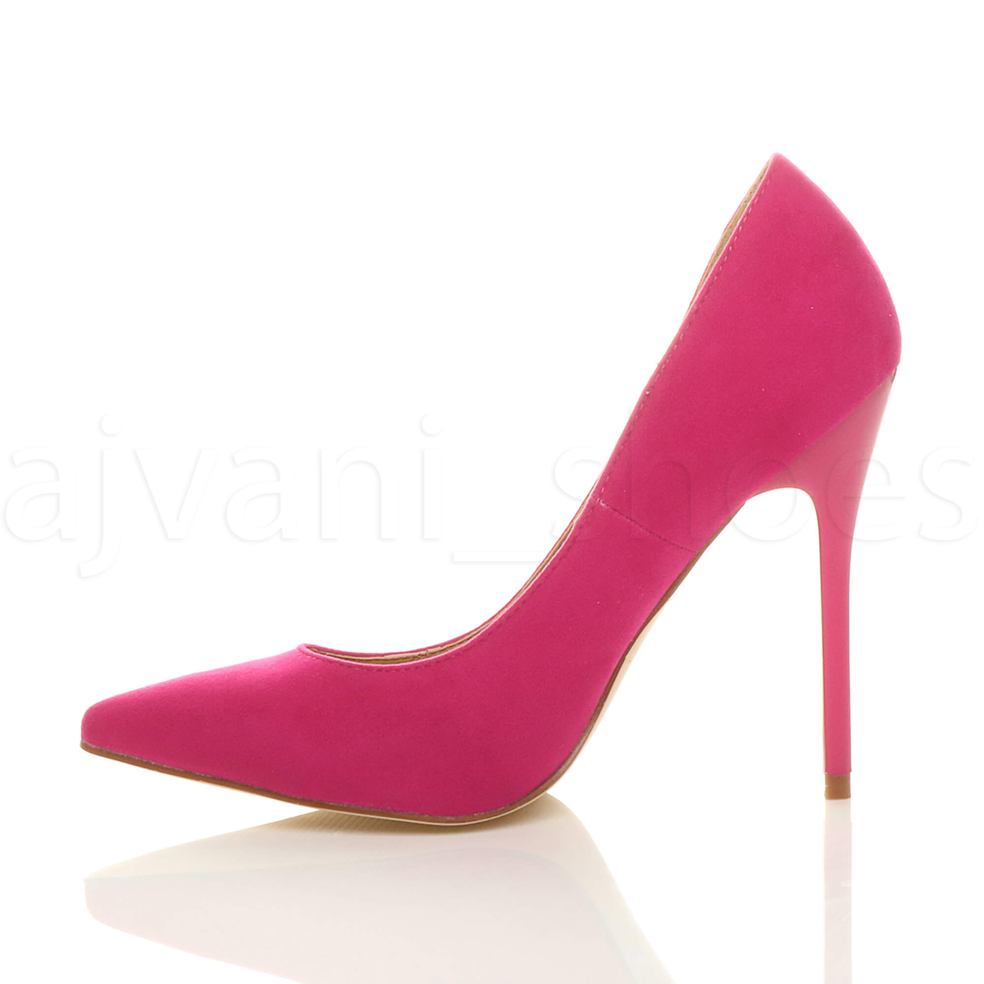 WOMENS-LADIES-HIGH-HEEL-POINTED-CONTRAST-COURT-SMART-PARTY-WORK-SHOES-PUMPS-SIZE thumbnail 82