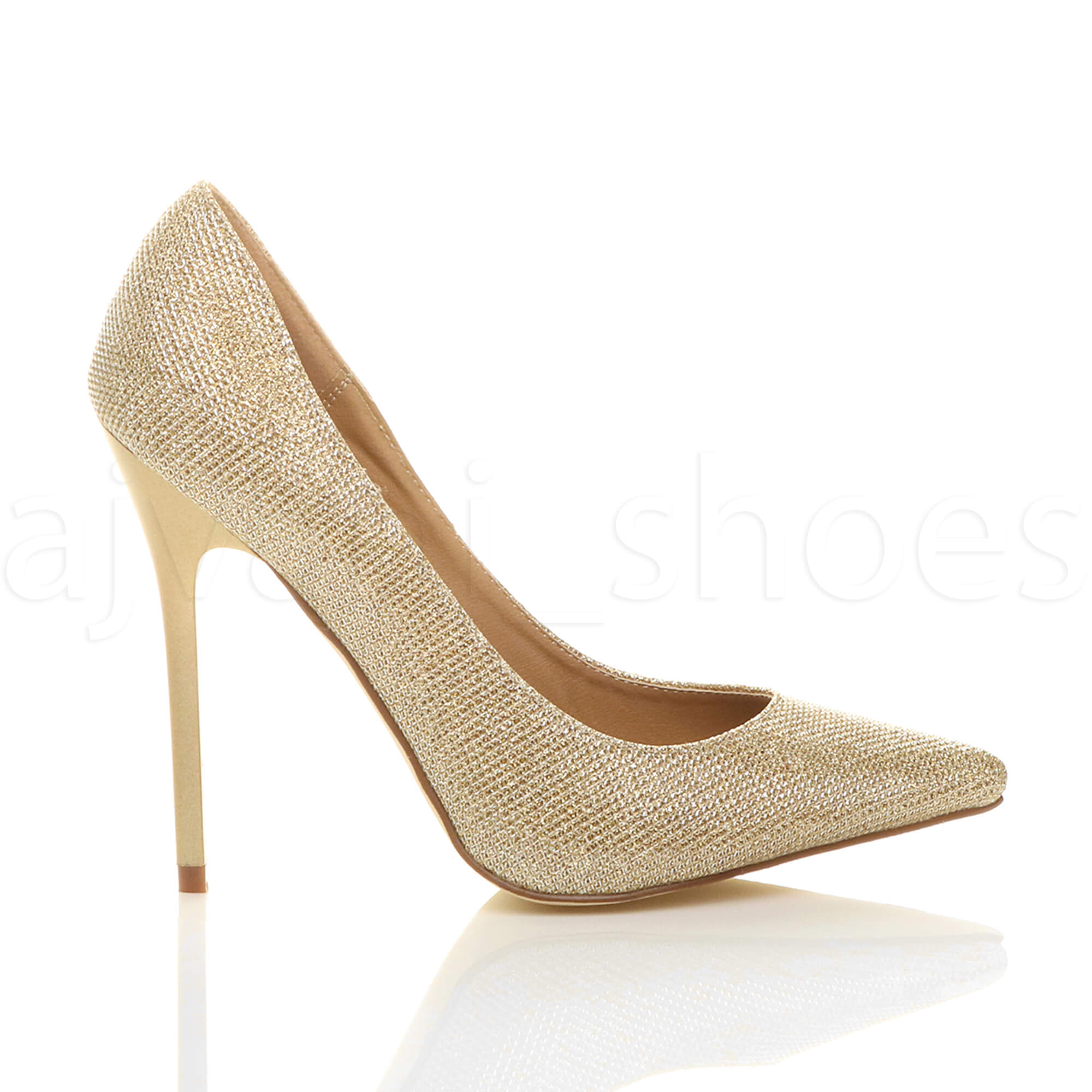 WOMENS-LADIES-HIGH-HEEL-POINTED-CONTRAST-COURT-SMART-PARTY-WORK-SHOES-PUMPS-SIZE thumbnail 73