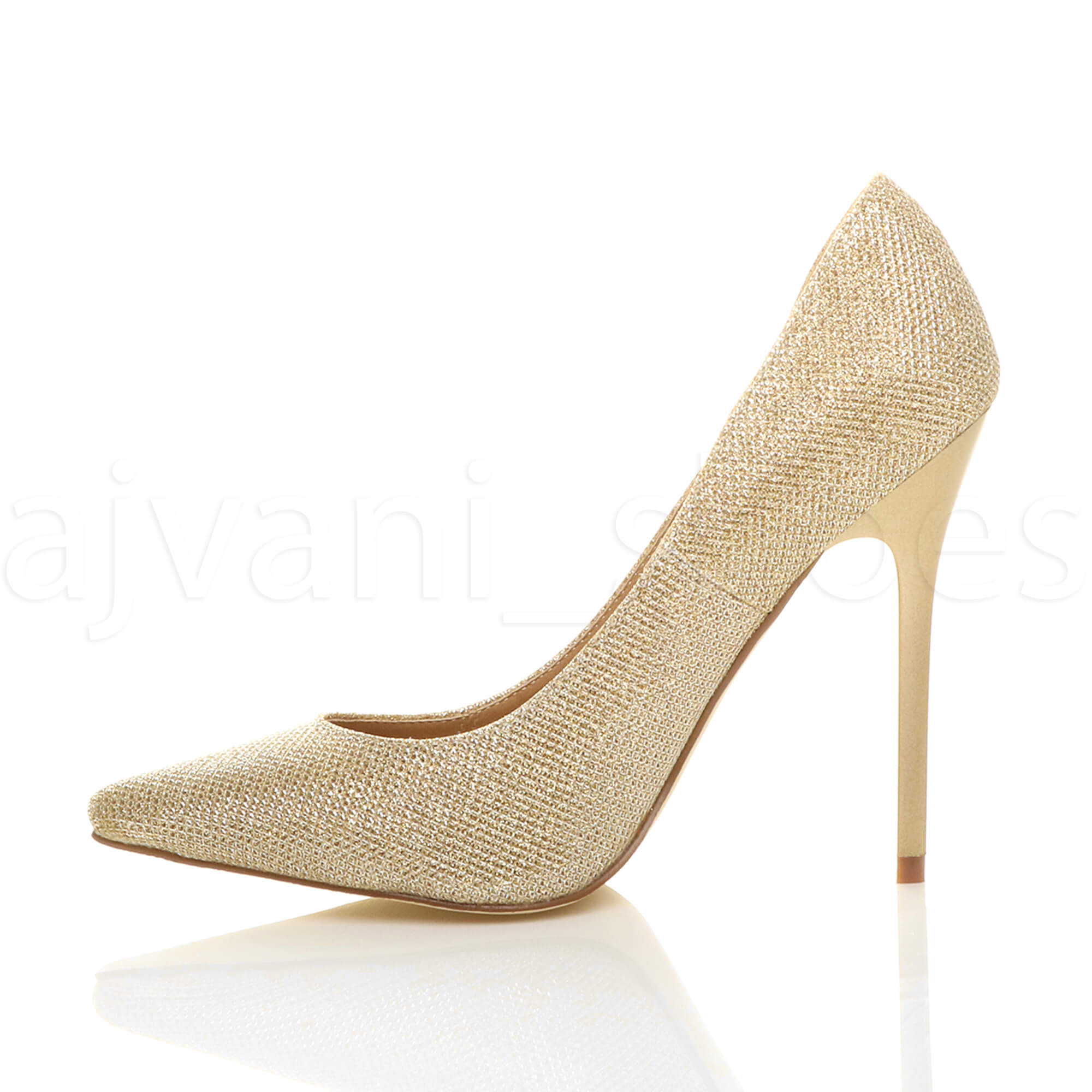 WOMENS-LADIES-HIGH-HEEL-POINTED-CONTRAST-COURT-SMART-PARTY-WORK-SHOES-PUMPS-SIZE thumbnail 74