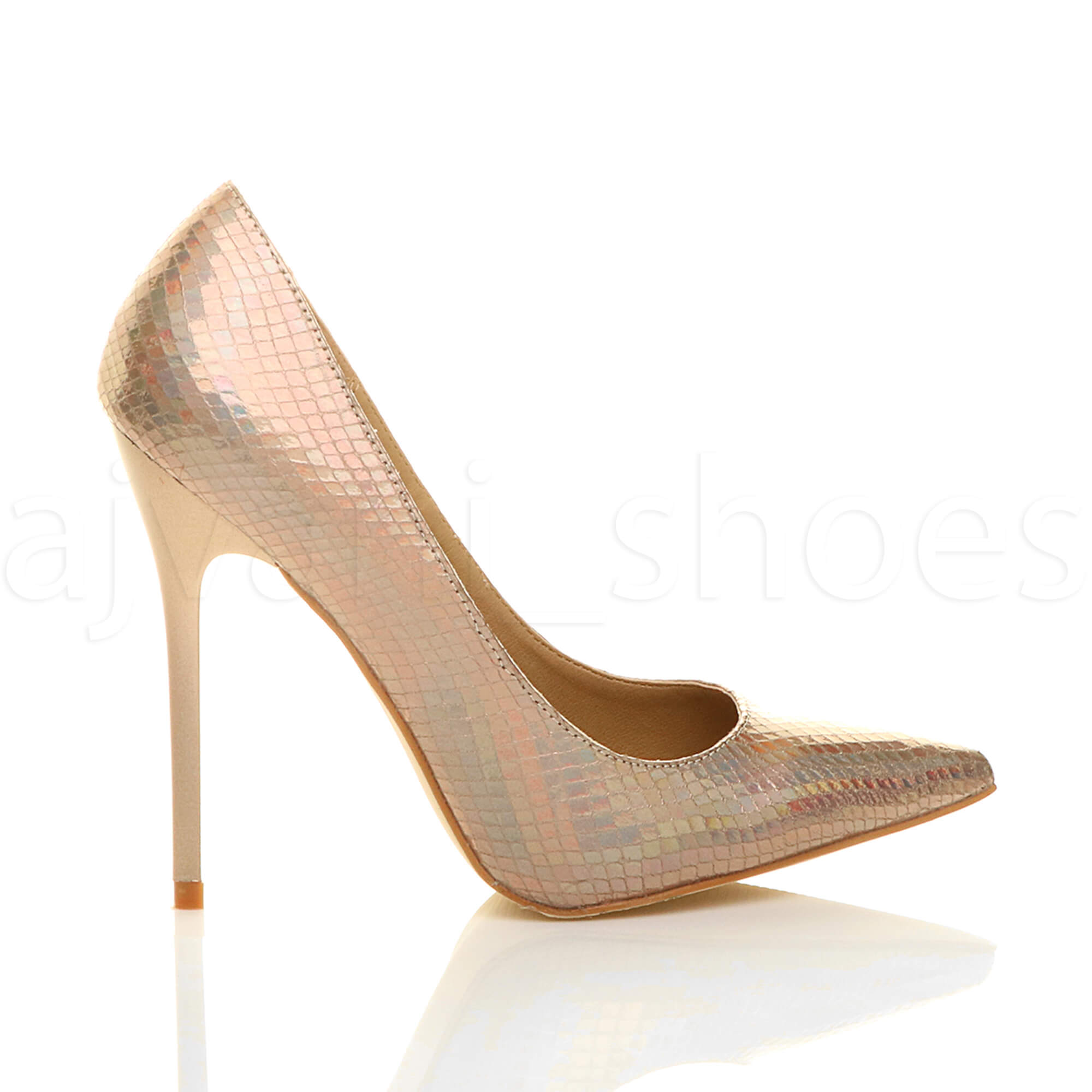 WOMENS-LADIES-HIGH-HEEL-POINTED-CONTRAST-COURT-SMART-PARTY-WORK-SHOES-PUMPS-SIZE thumbnail 58
