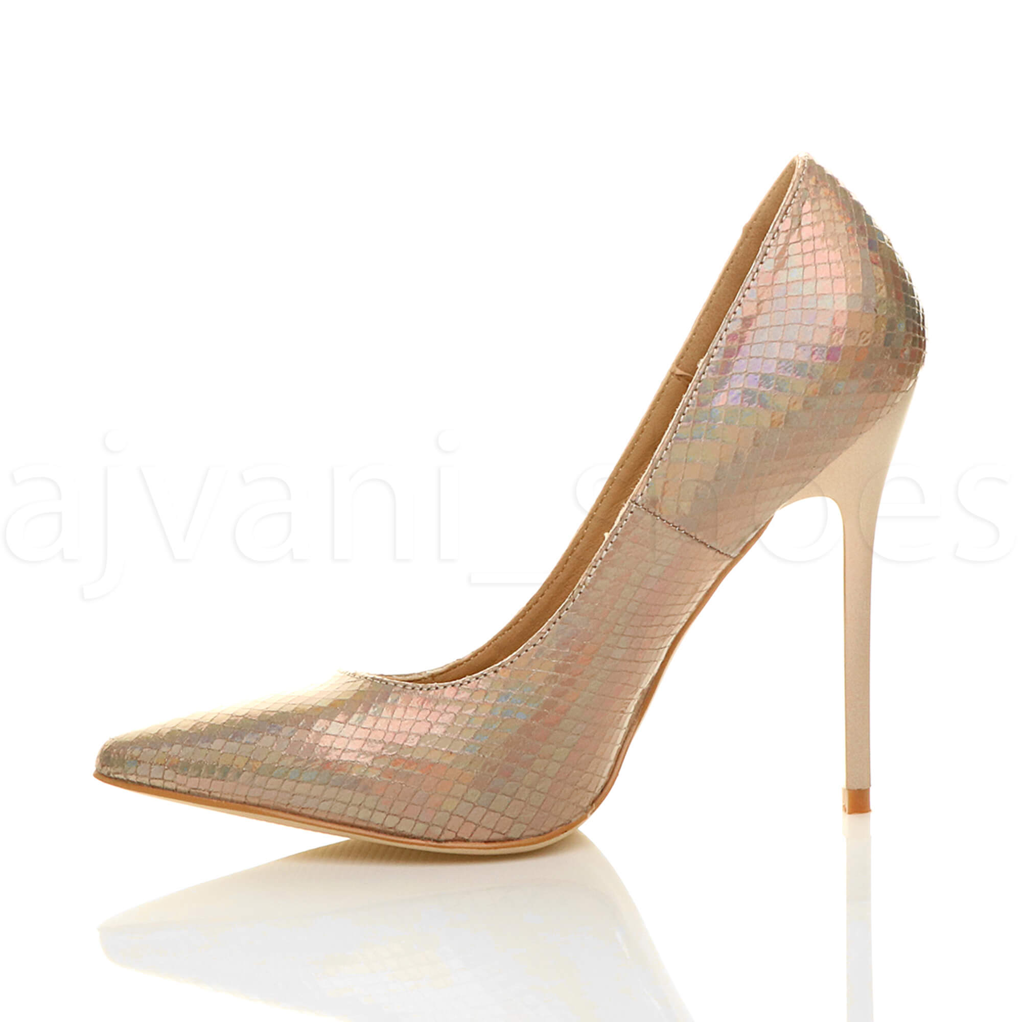 WOMENS-LADIES-HIGH-HEEL-POINTED-CONTRAST-COURT-SMART-PARTY-WORK-SHOES-PUMPS-SIZE thumbnail 59