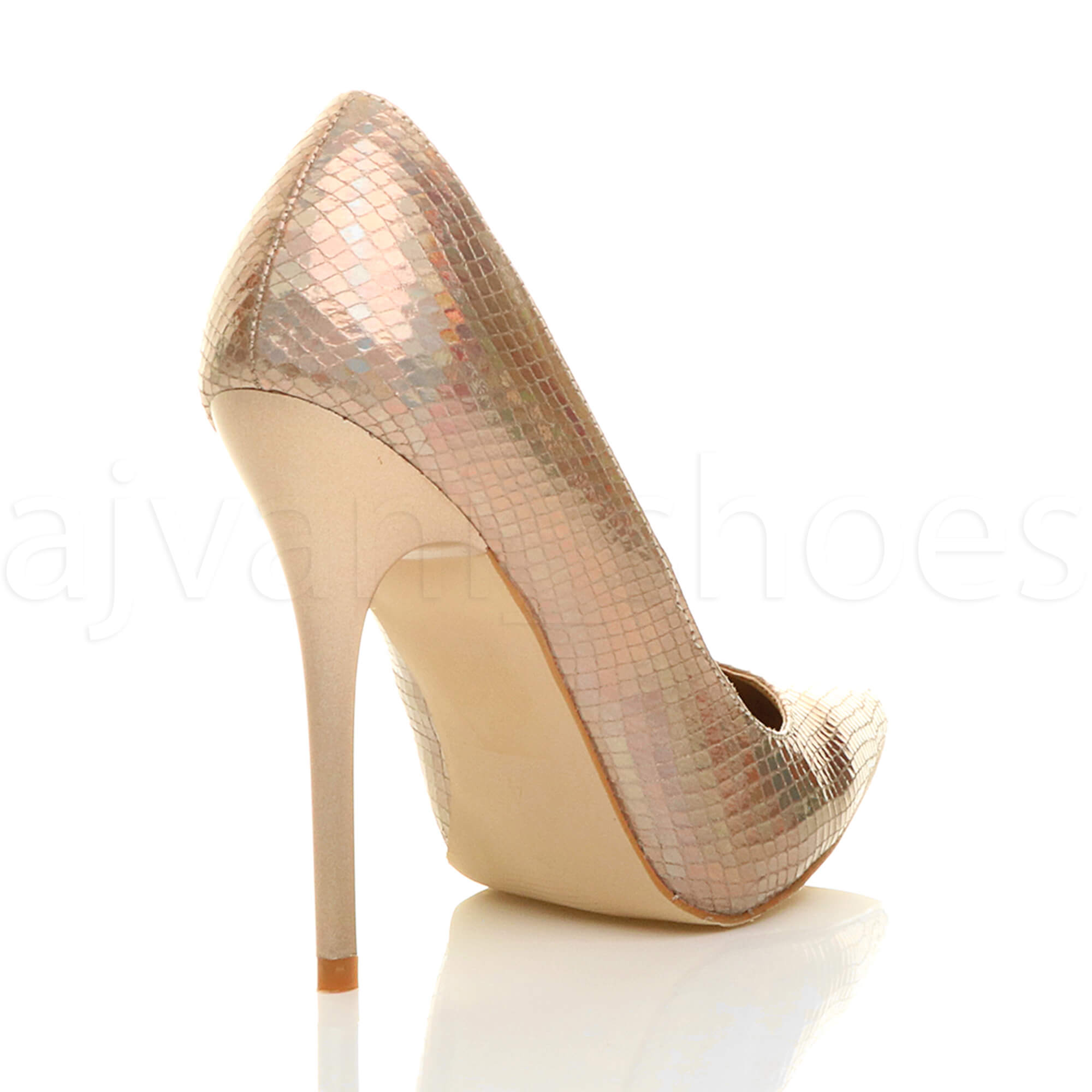 WOMENS-LADIES-HIGH-HEEL-POINTED-CONTRAST-COURT-SMART-PARTY-WORK-SHOES-PUMPS-SIZE thumbnail 60