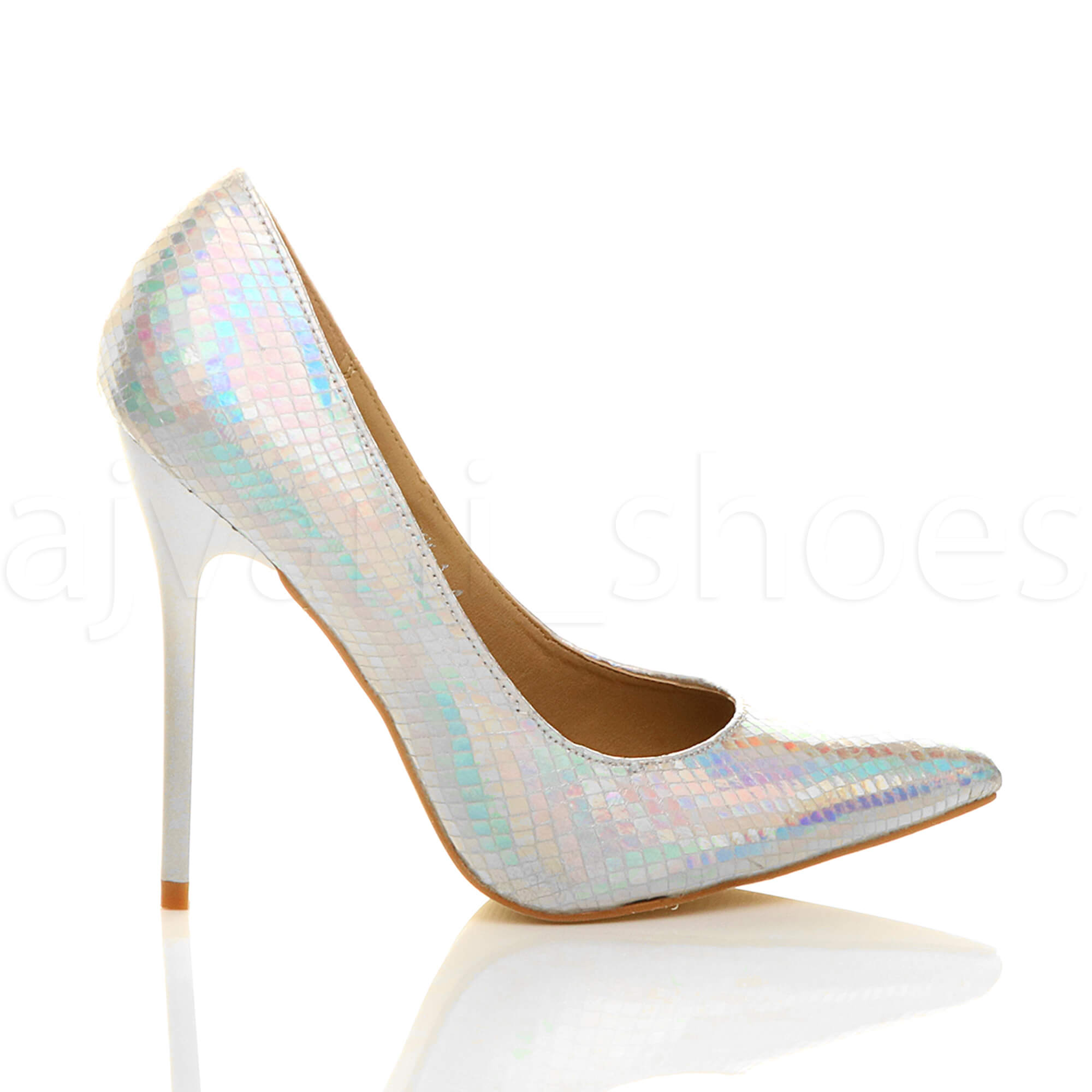 WOMENS-LADIES-HIGH-HEEL-POINTED-CONTRAST-COURT-SMART-PARTY-WORK-SHOES-PUMPS-SIZE thumbnail 185