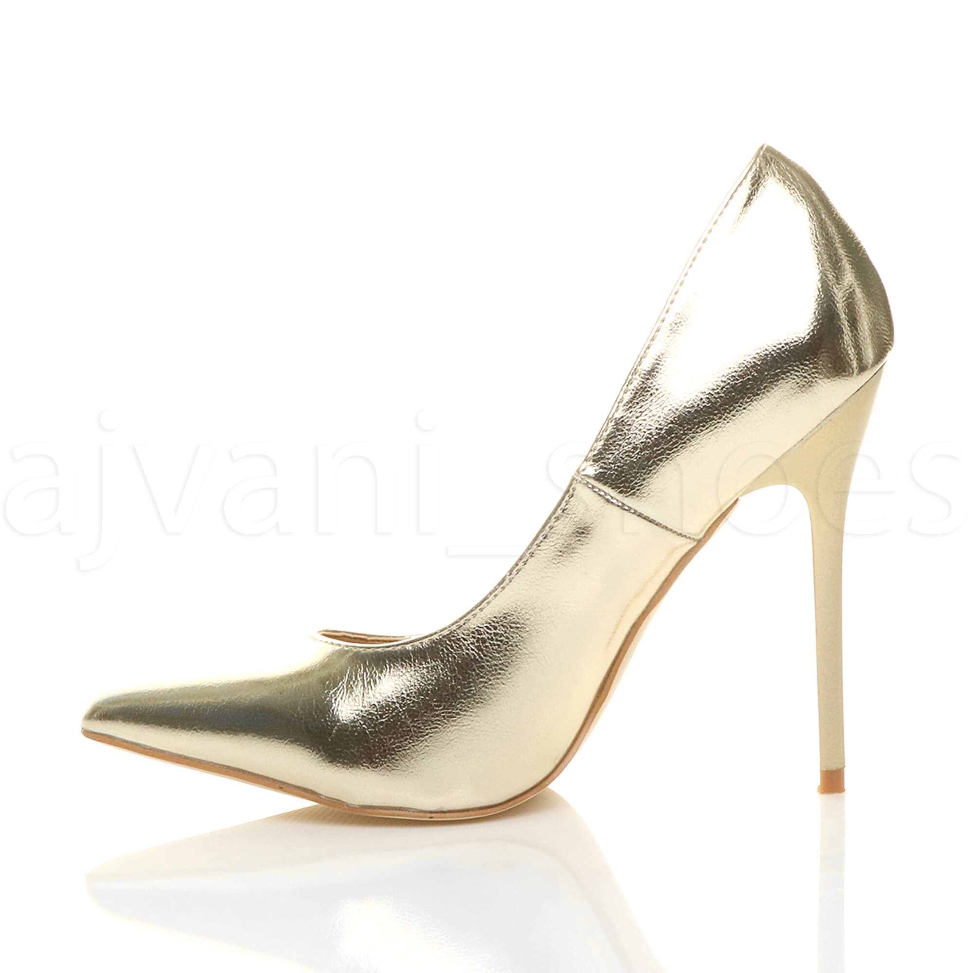 WOMENS-LADIES-HIGH-HEEL-POINTED-CONTRAST-COURT-SMART-PARTY-WORK-SHOES-PUMPS-SIZE thumbnail 67